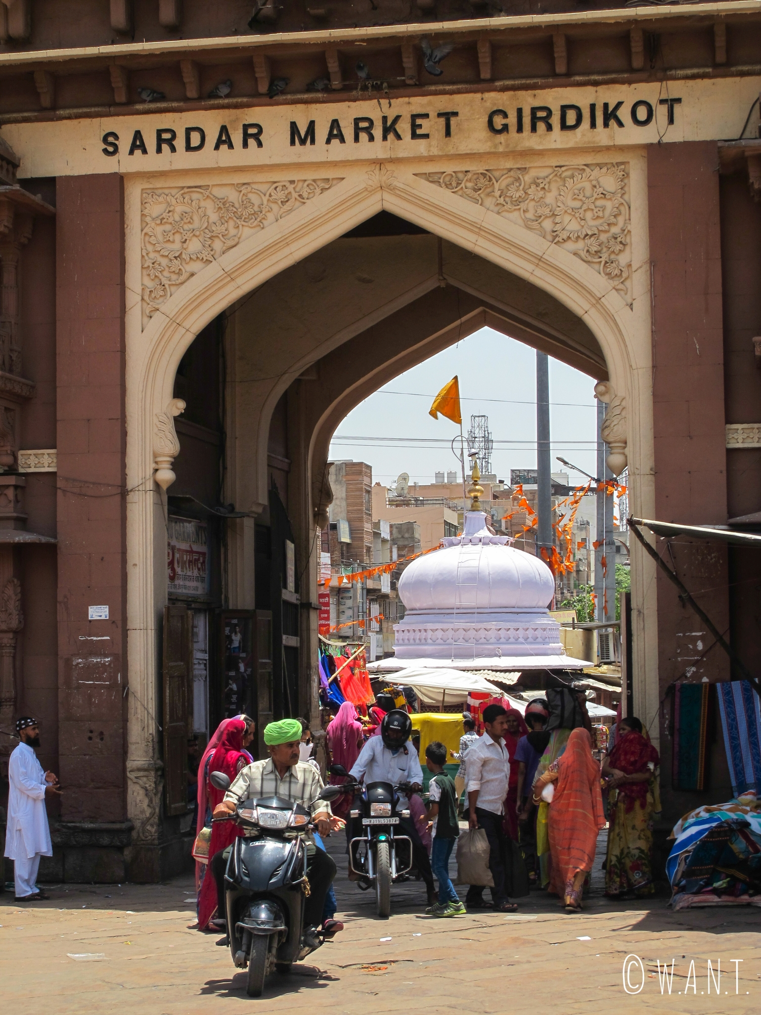 Une des quatre portes d'entrée pour rejoindre le Sadar market dans la vielle ville de Jodhpur