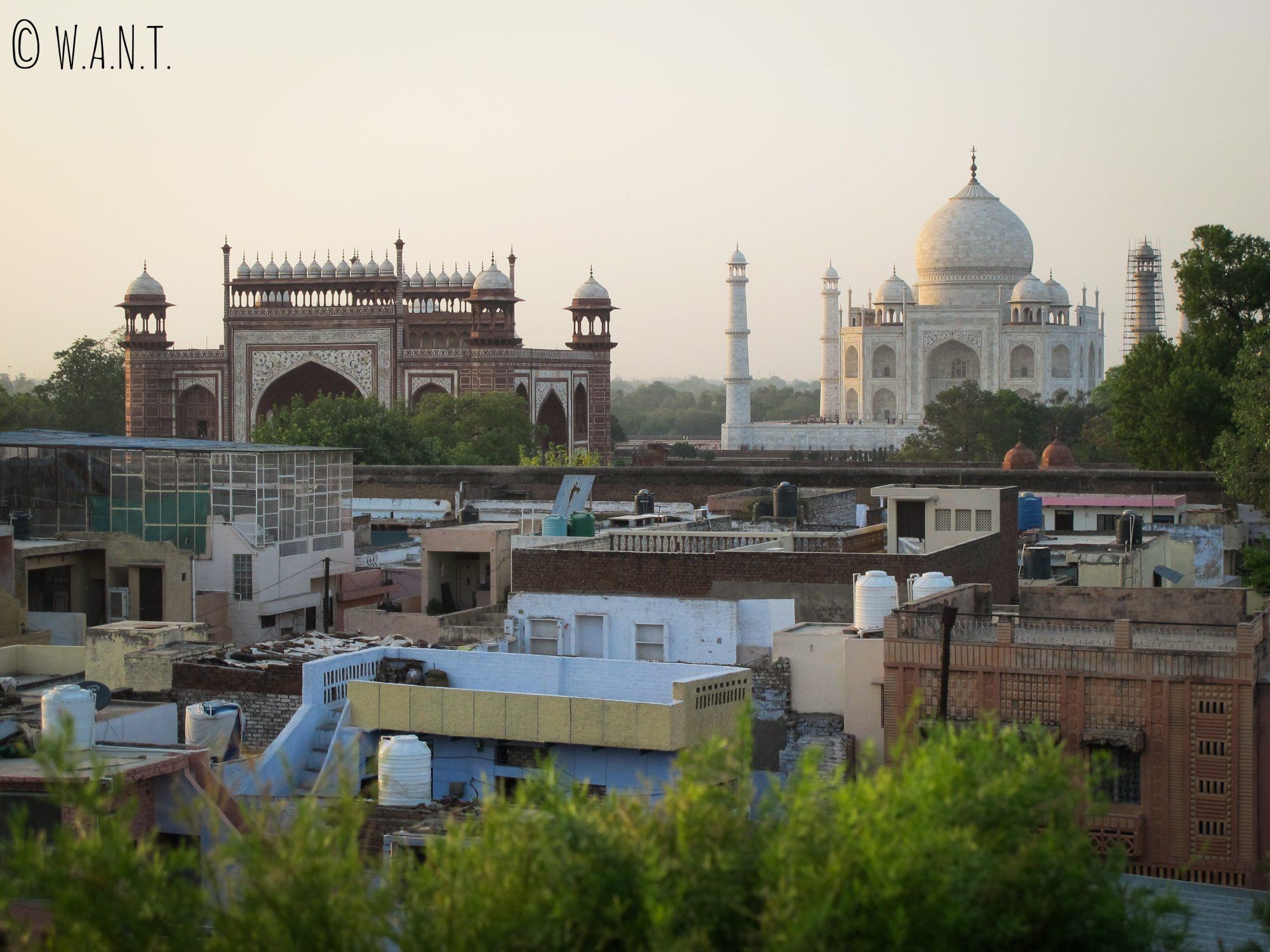 Vue depuis le rooftop du Saniya Palace