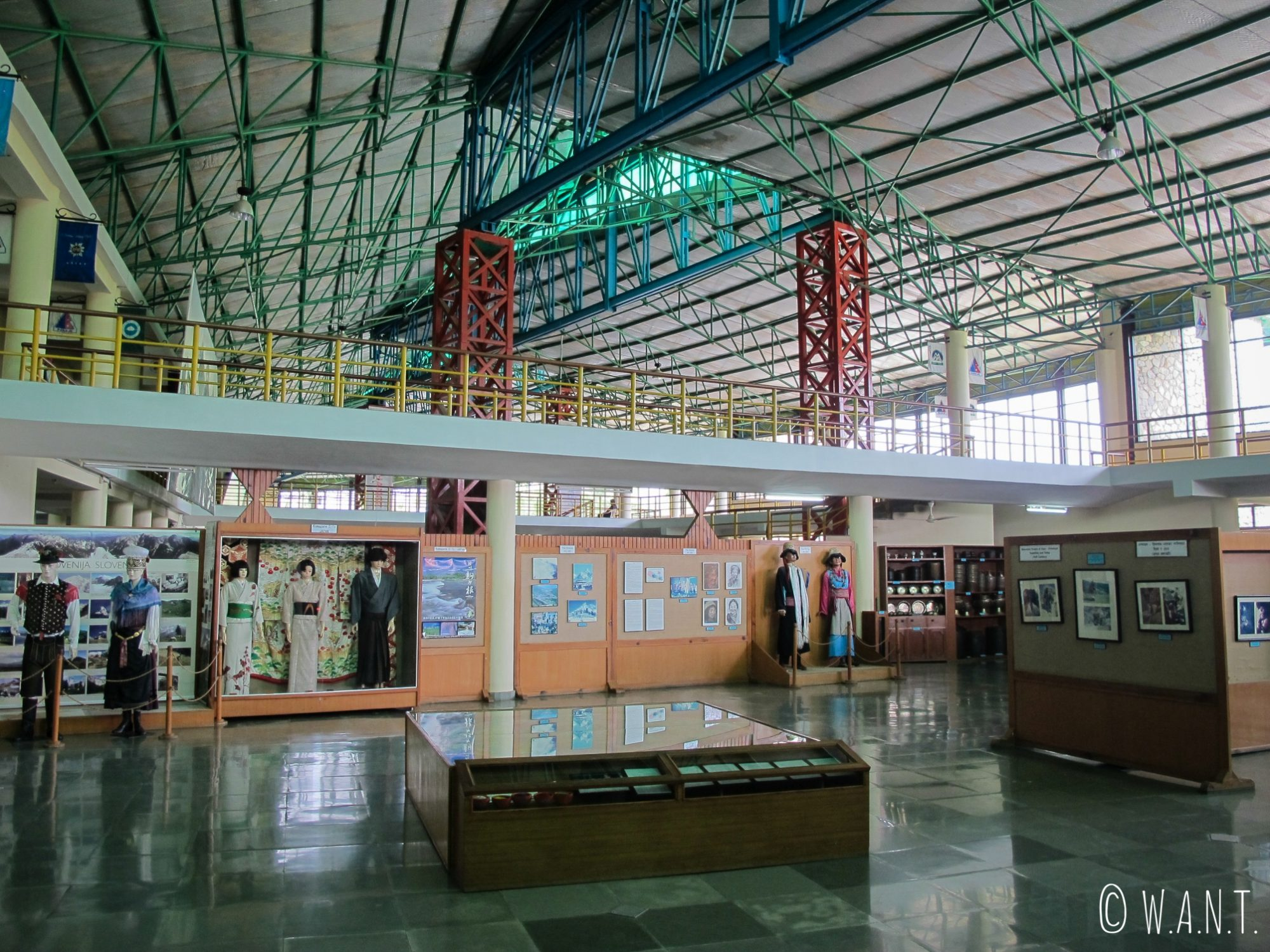 A l'intérieur de l'International Mountain Museum de Pokhara