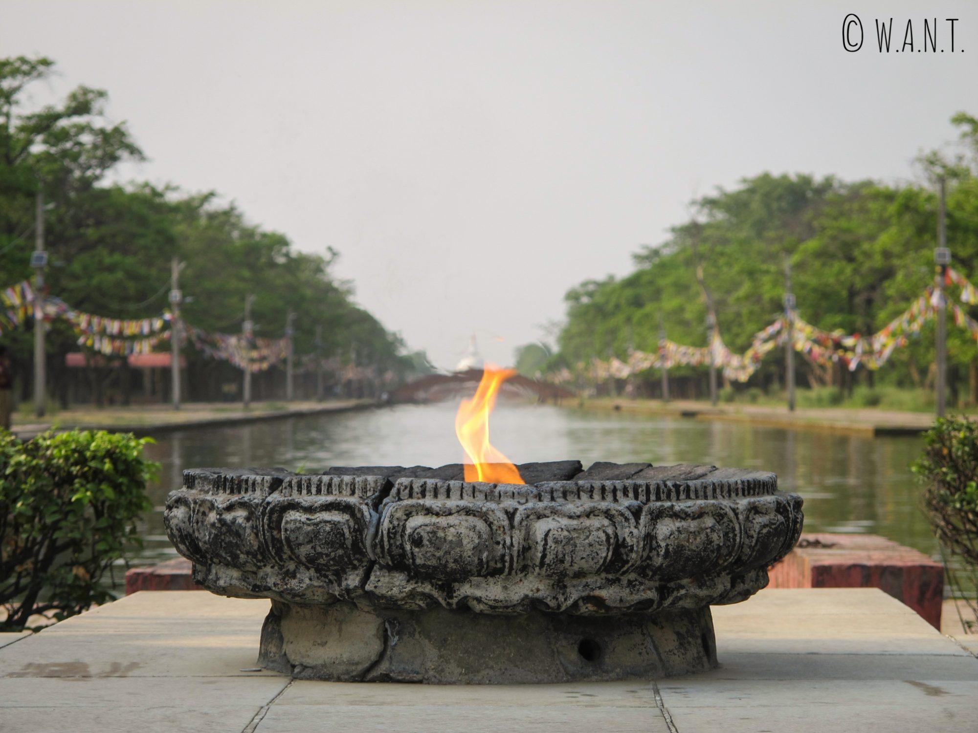 Flamme éternelle de la paix à Lumbini