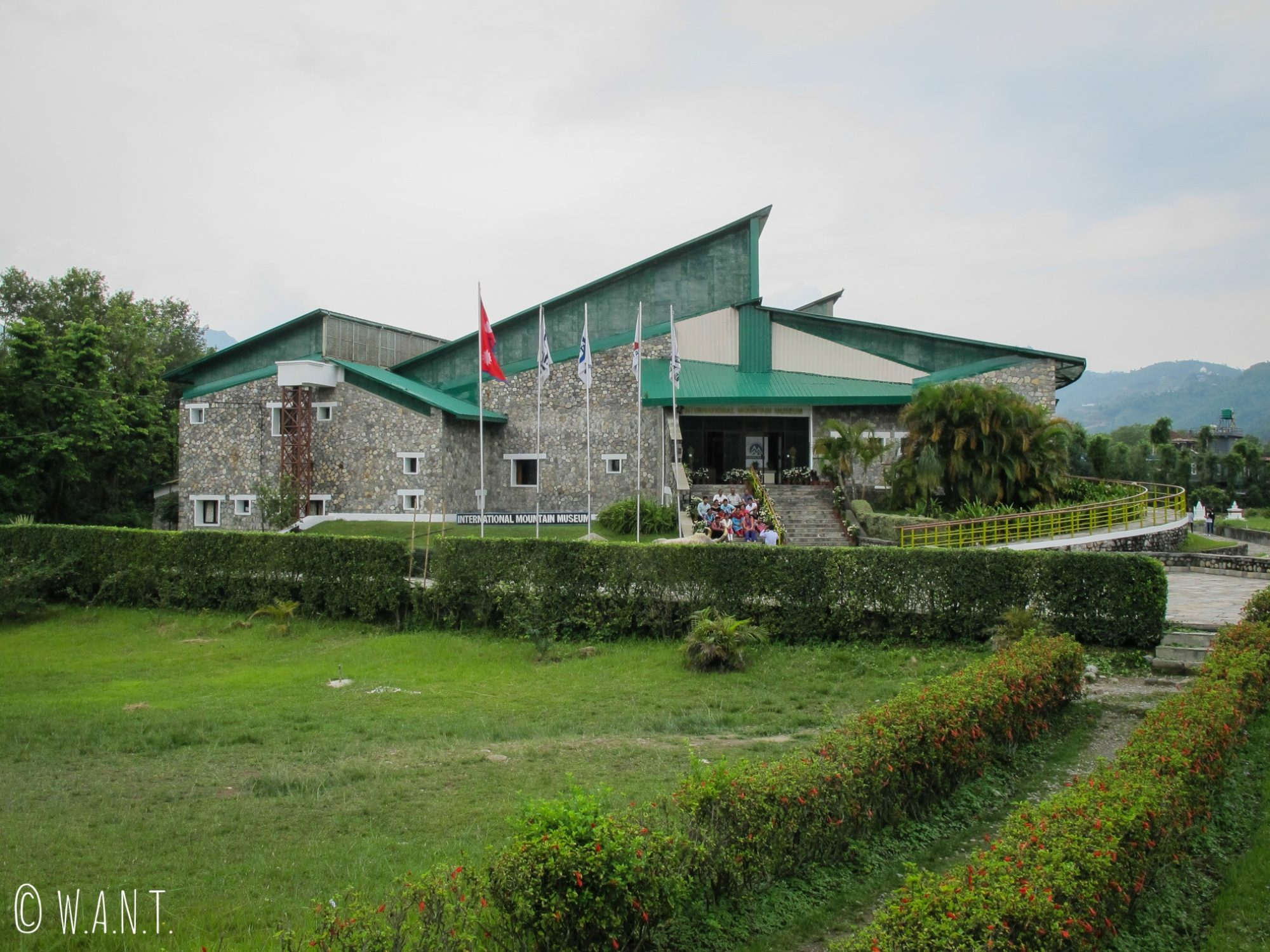 International Mountain Museum de Pokhara vu de l'extérieur