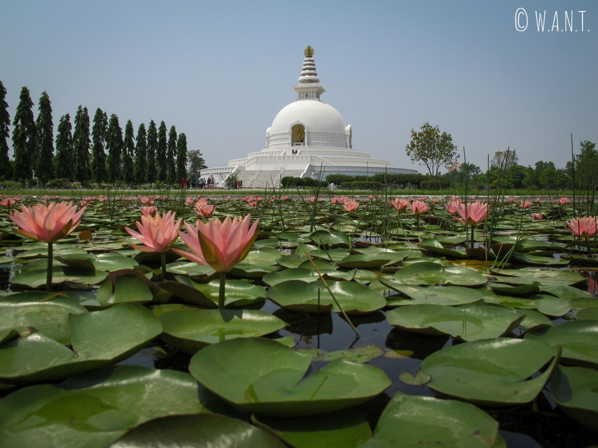La World Peace Pagoda de Lumbini a été construite par le Japon