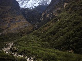 La montée depuis Chhomrong vers le Camp de Base du Macchapucchre