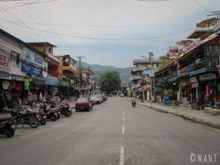 Lakeside, rue principale et touristique de Pokhara