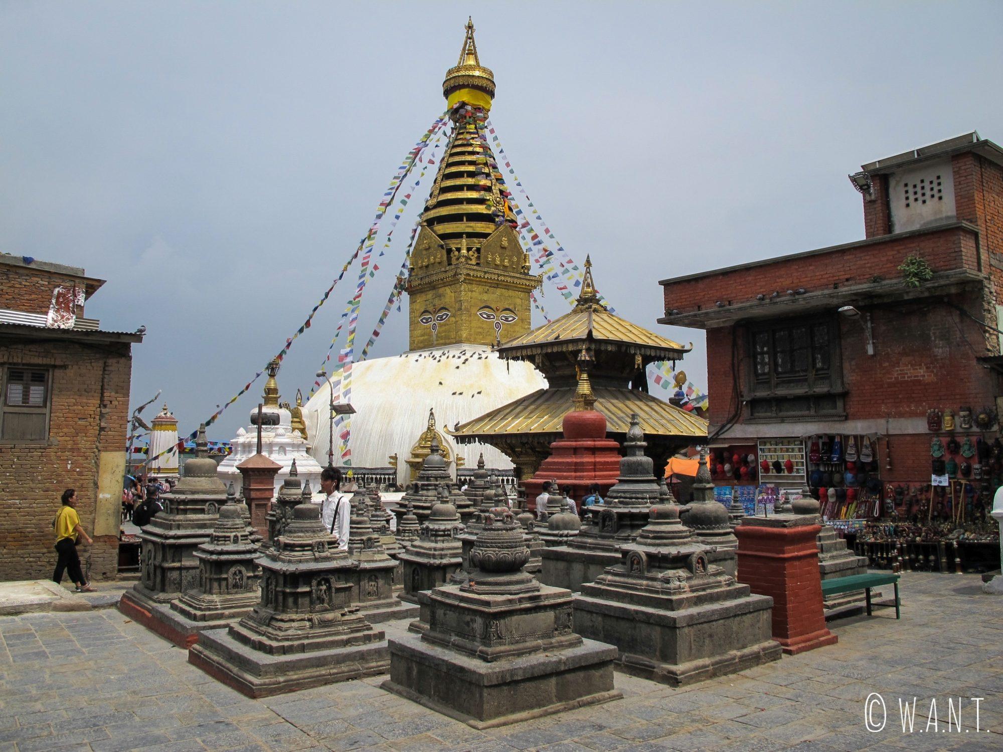 Le Stupa Swayambhunath se situe sur une colline qui domine la ville