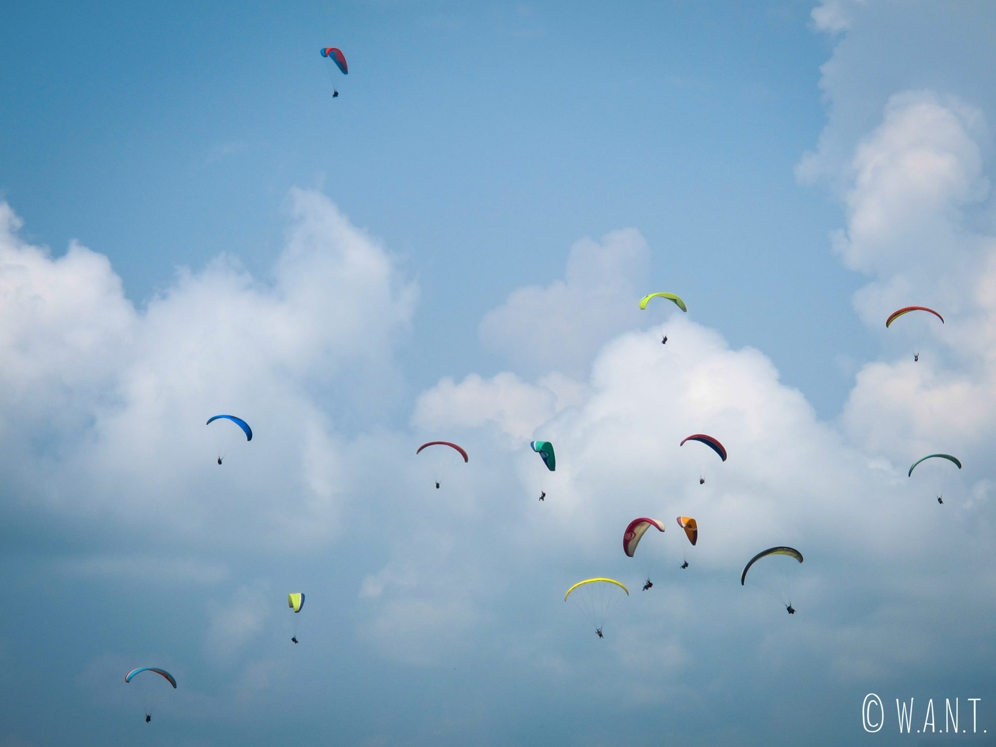 Les parapentes envahissent le ciel de Pokhara