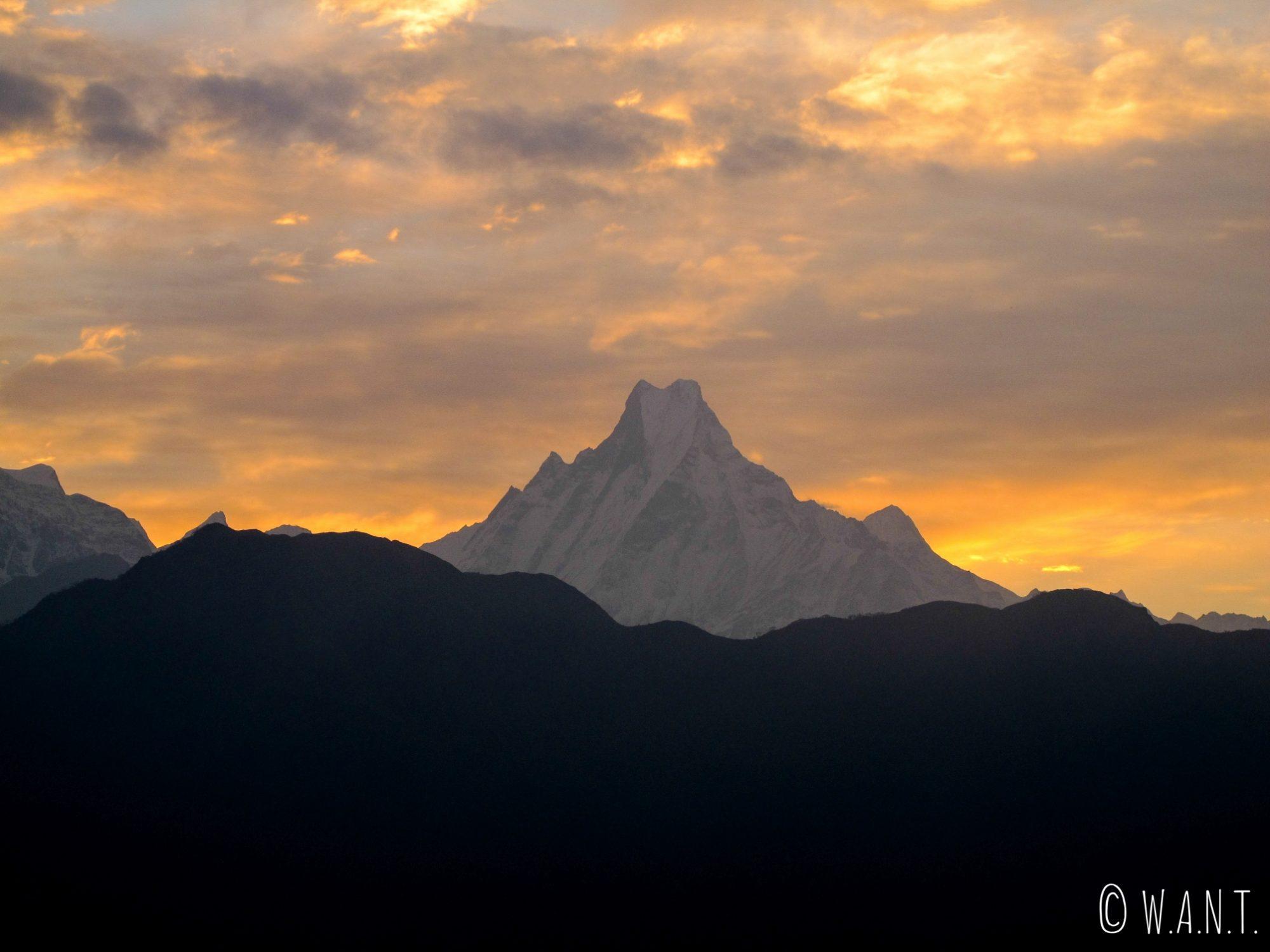 Lever de soleil sur le Machhapuchhre depuis Poon Hill