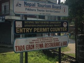 L'office de l'ACAP est assez facile à trouver au sud de Pokhara