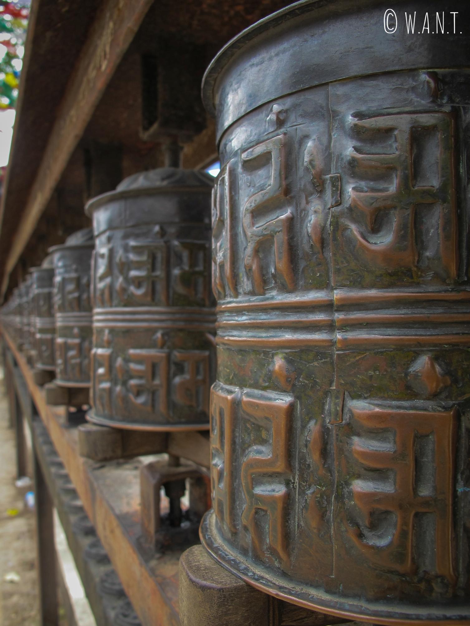 Moulin à prières du stupa Swayambhunath