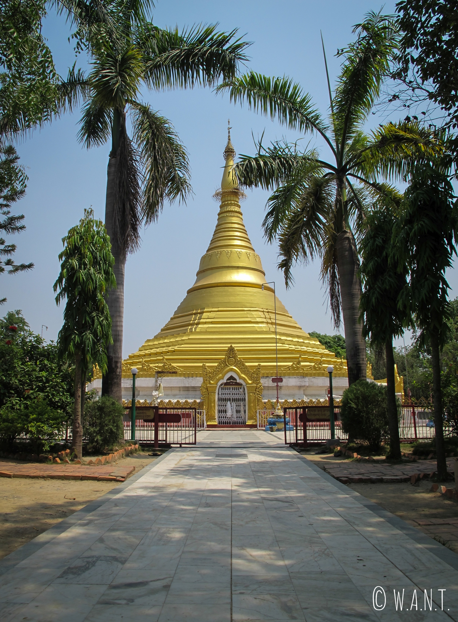 Pagode du Myanmar à Lumbini