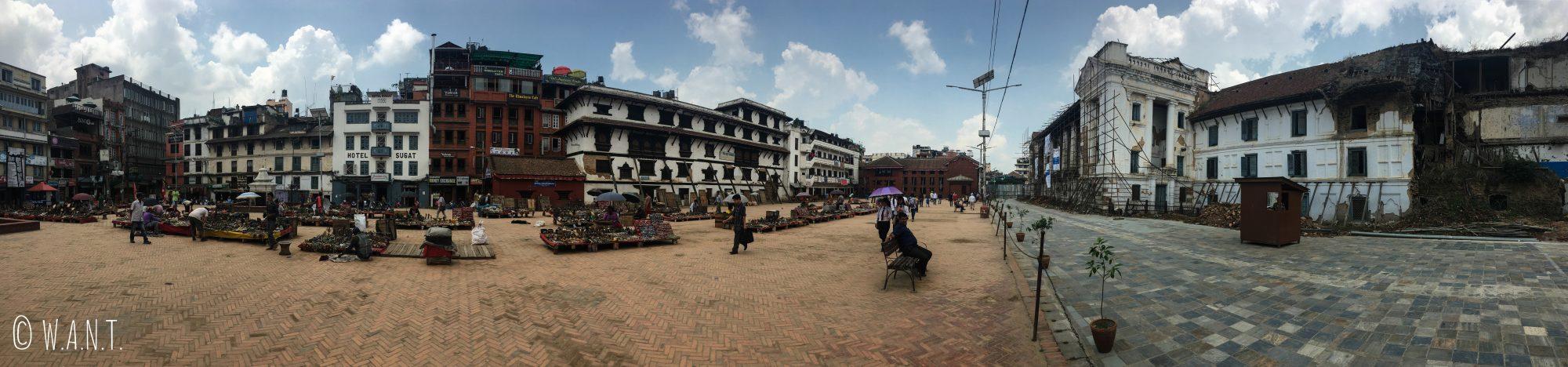 Panorama d'une des places du Durbar Square de Katmandou