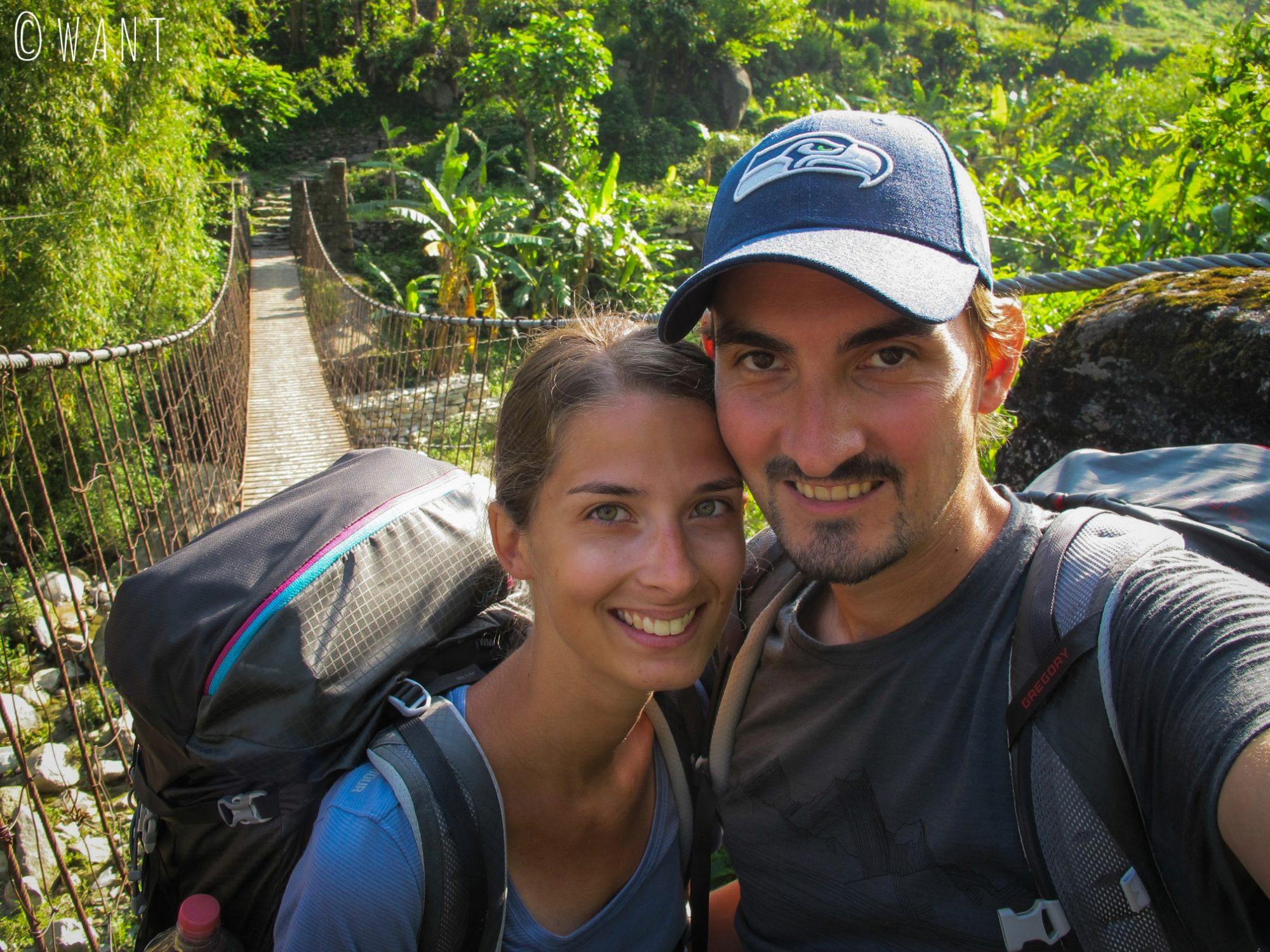 Selfie au départ de notre aventure, sans la moindre idée de ce qui nous attend