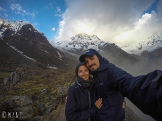 Selfie devant l'Annapurna 1 et l'Annapurna South