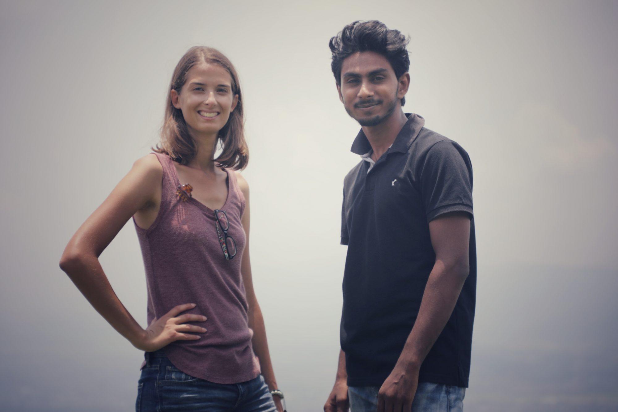 Shahrukh Khan et Marion posent devant l'objectif