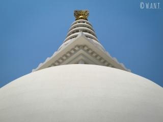 Symétrie parfaite de la World Peace Pagoda de Lumbini