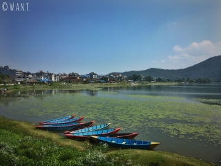 Vue sur Lakeside, rive principale du lac Fewa