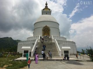 World Peace Pagoda sur les hauteurs de Pokhara