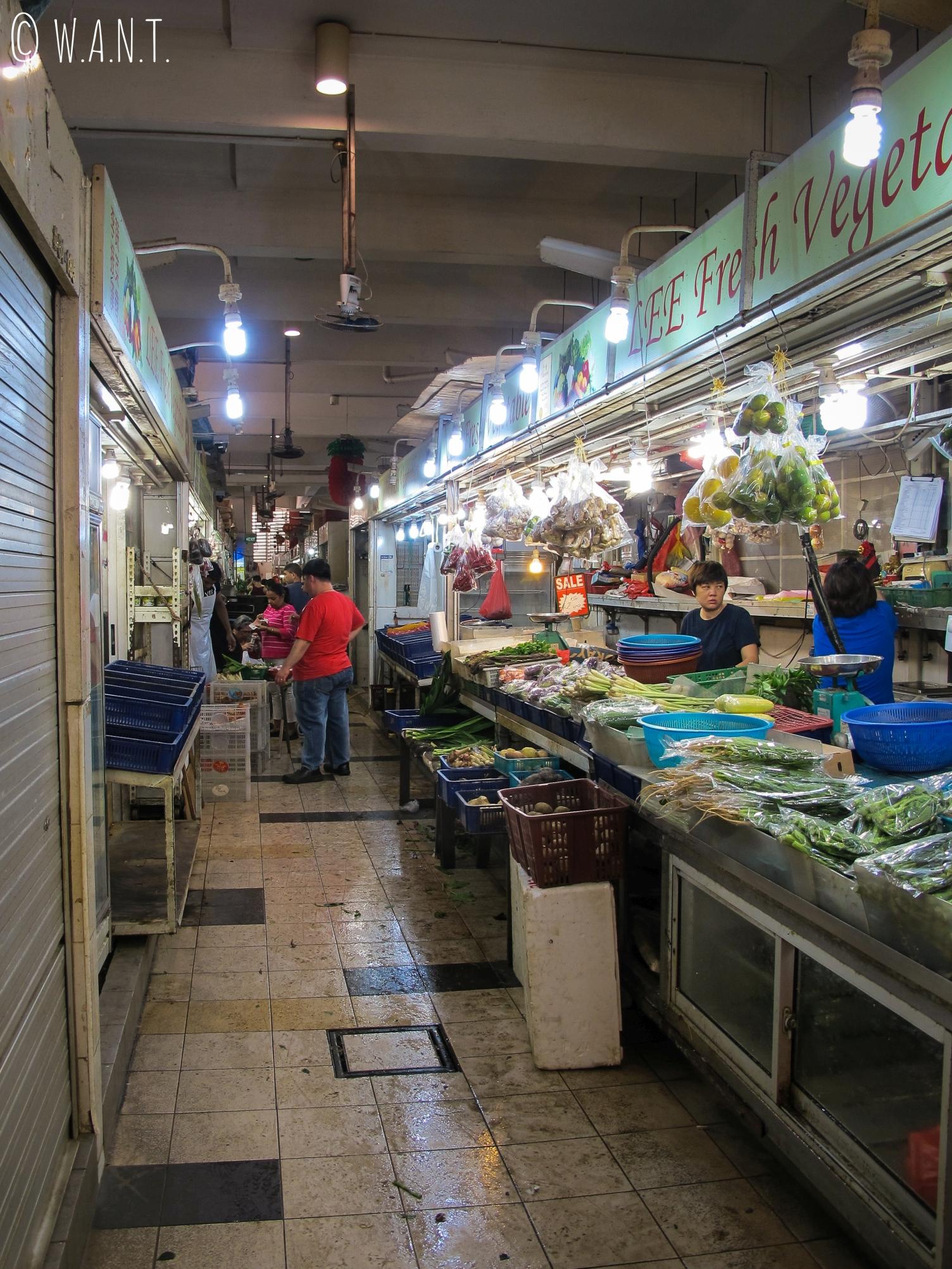 Allée du Tekka Market dans le quartier indien de Singapour