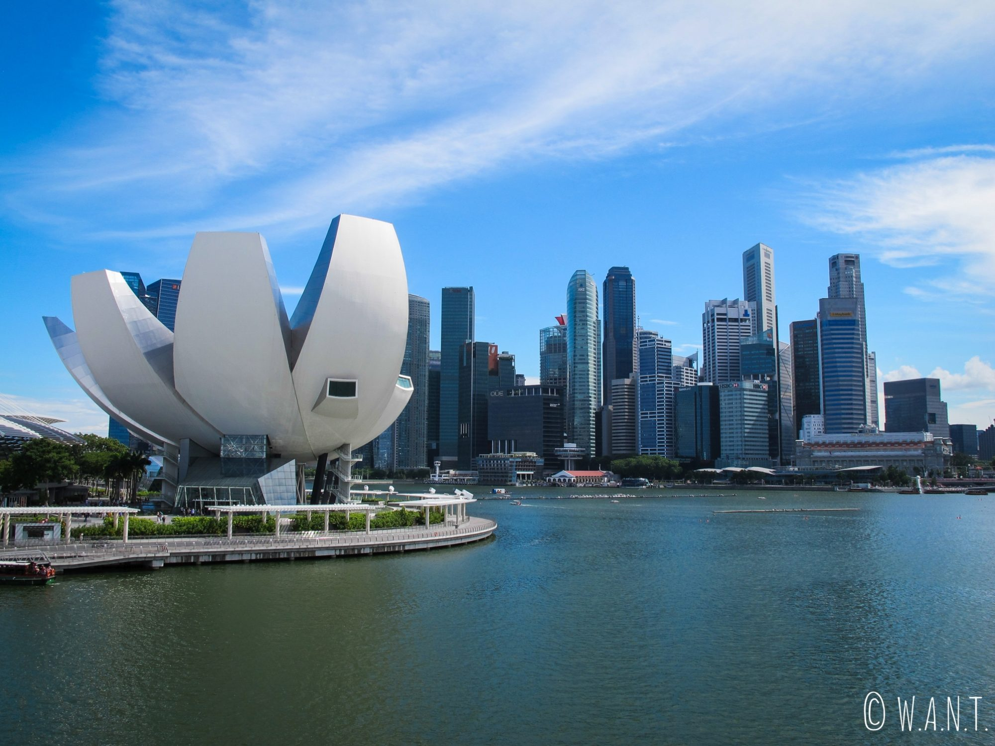 ArtScience Museum et Skyline de Singapour