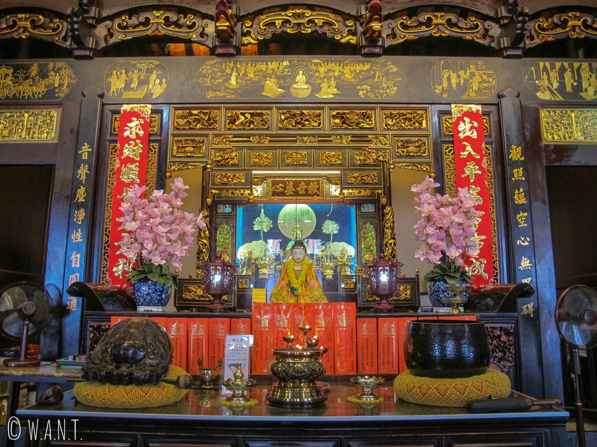 Autel du temple chinois Cheng Hoon Teng de Malacca