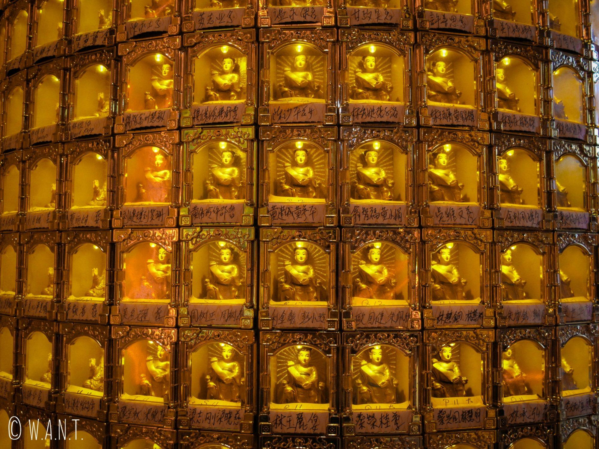 Bouddhas miniatures au temple Sze Ya Temple de Kuala Lumpur