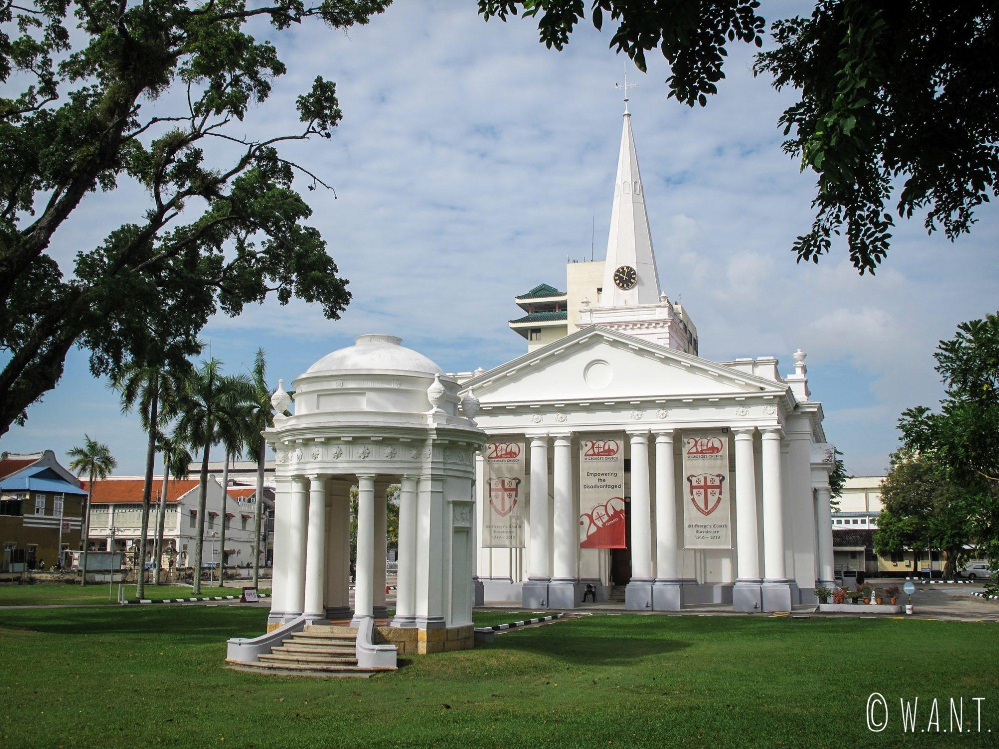 Eglise Saint-Georges dans le quartier colonial de Georgetown à Penang