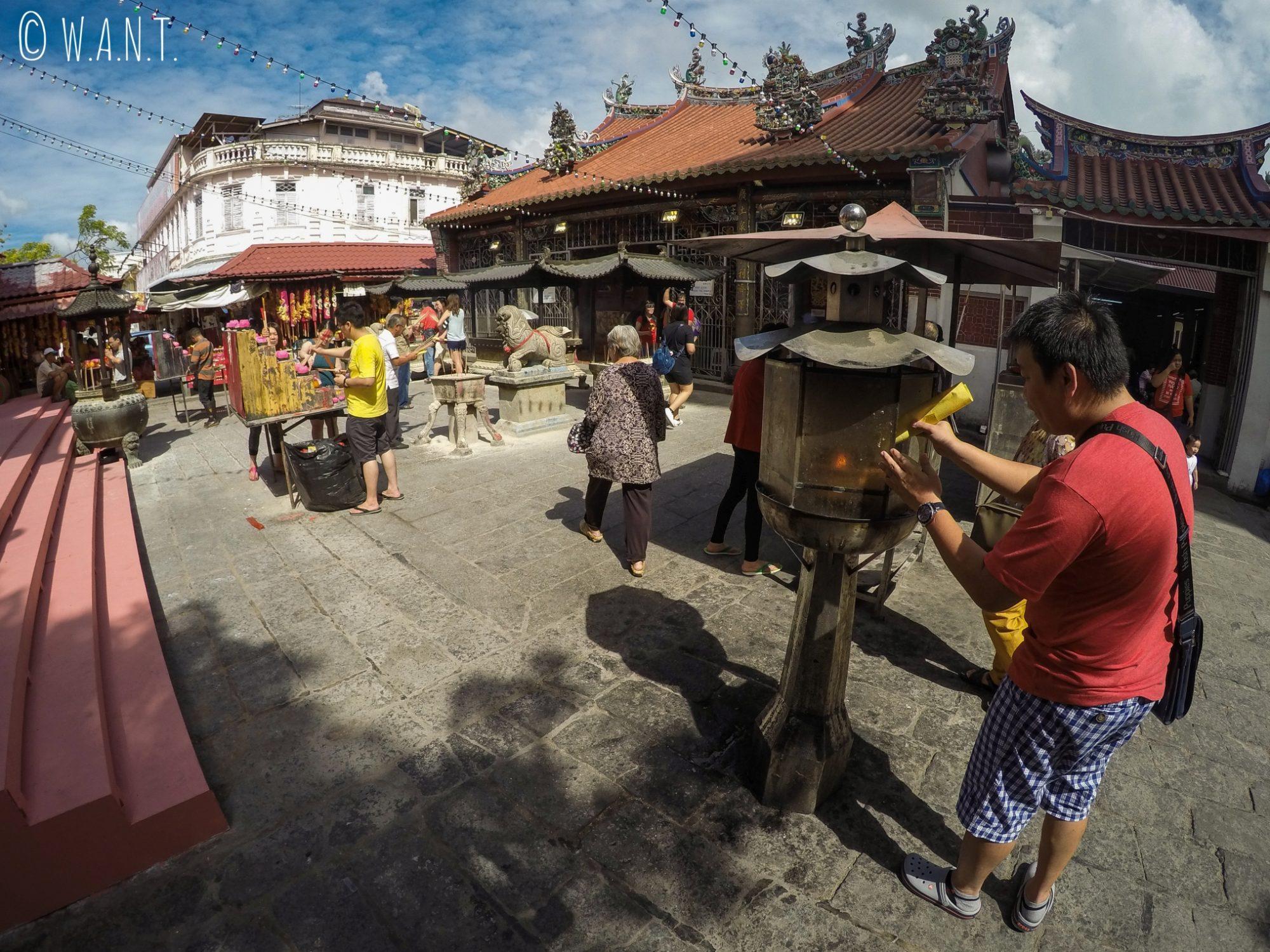 Entrée du temple chinois Kuan Yin Teng de Georgetown à Penang