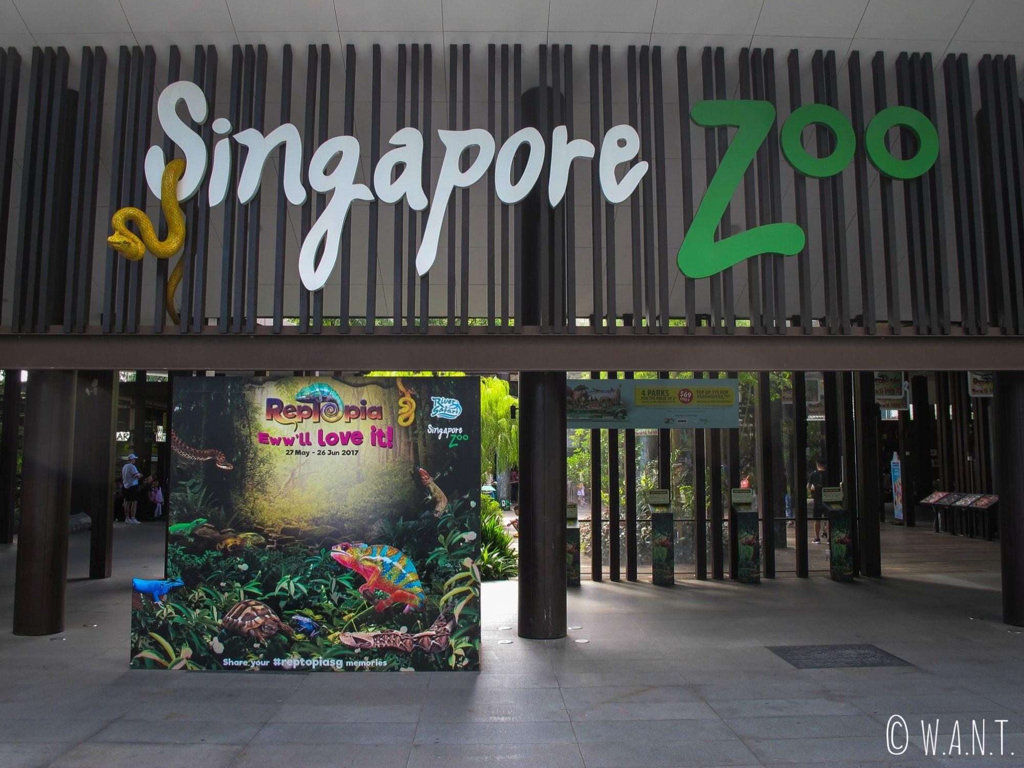 Entrée du zoo de Singapour