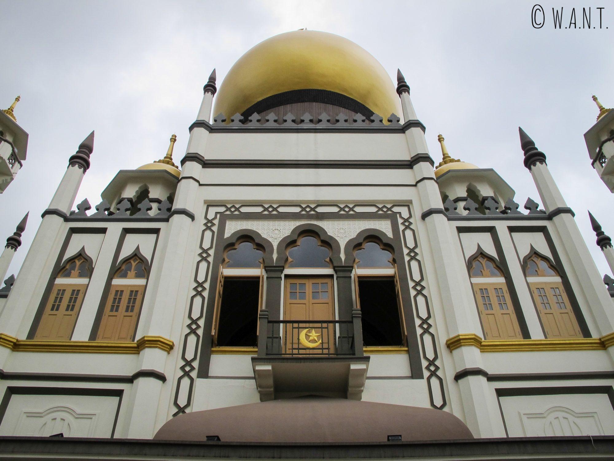 Façade de la mosquée Masjid Sultan de Singapour