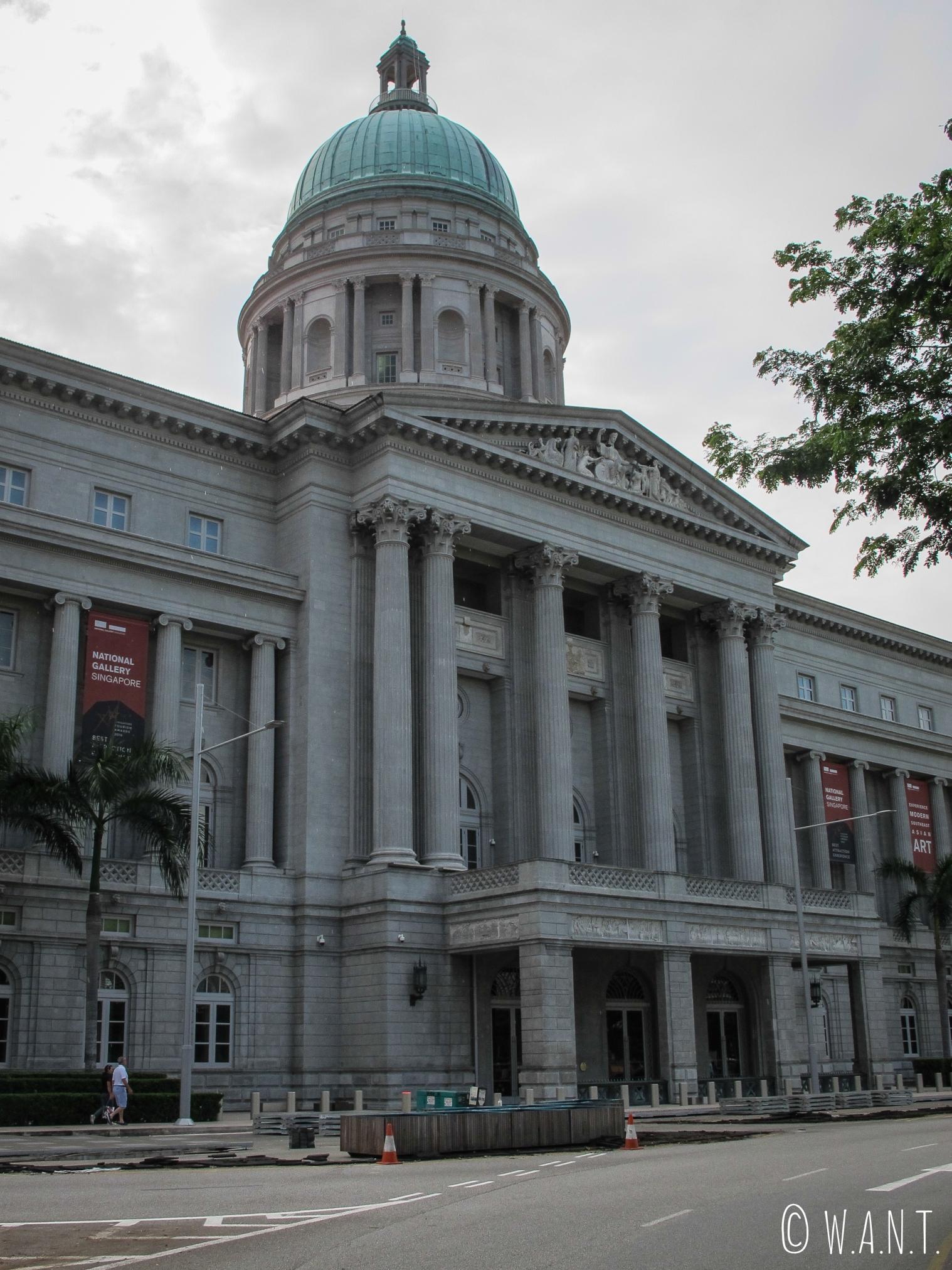 Façade du musée National Gallery de Singapour
