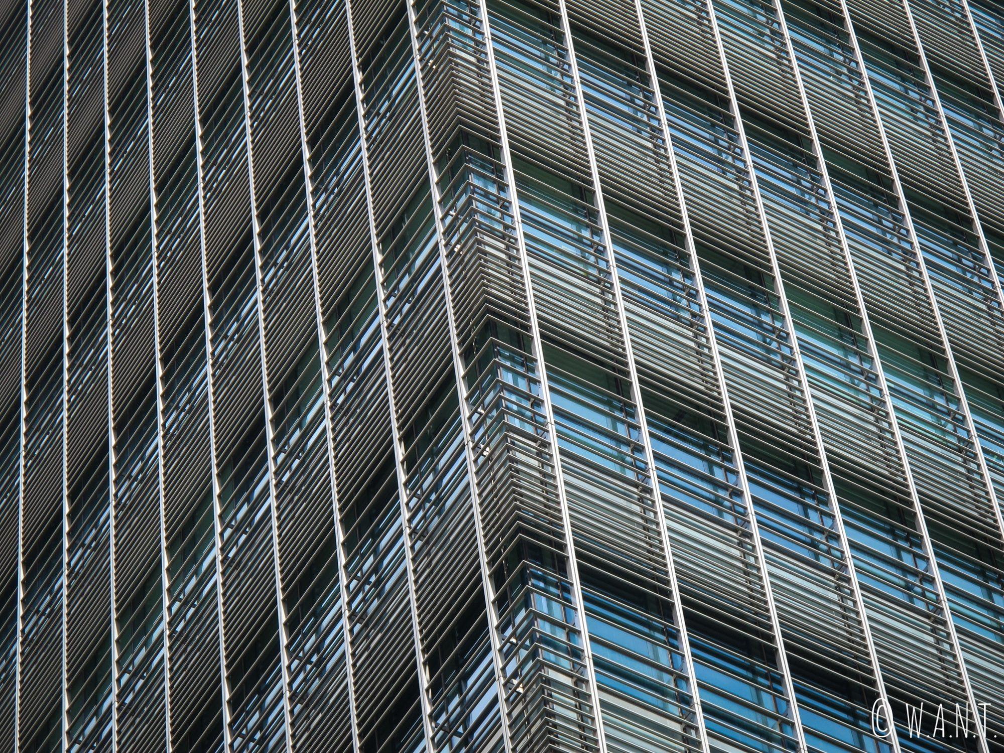Façade d'un building de la Skyline de Singapour