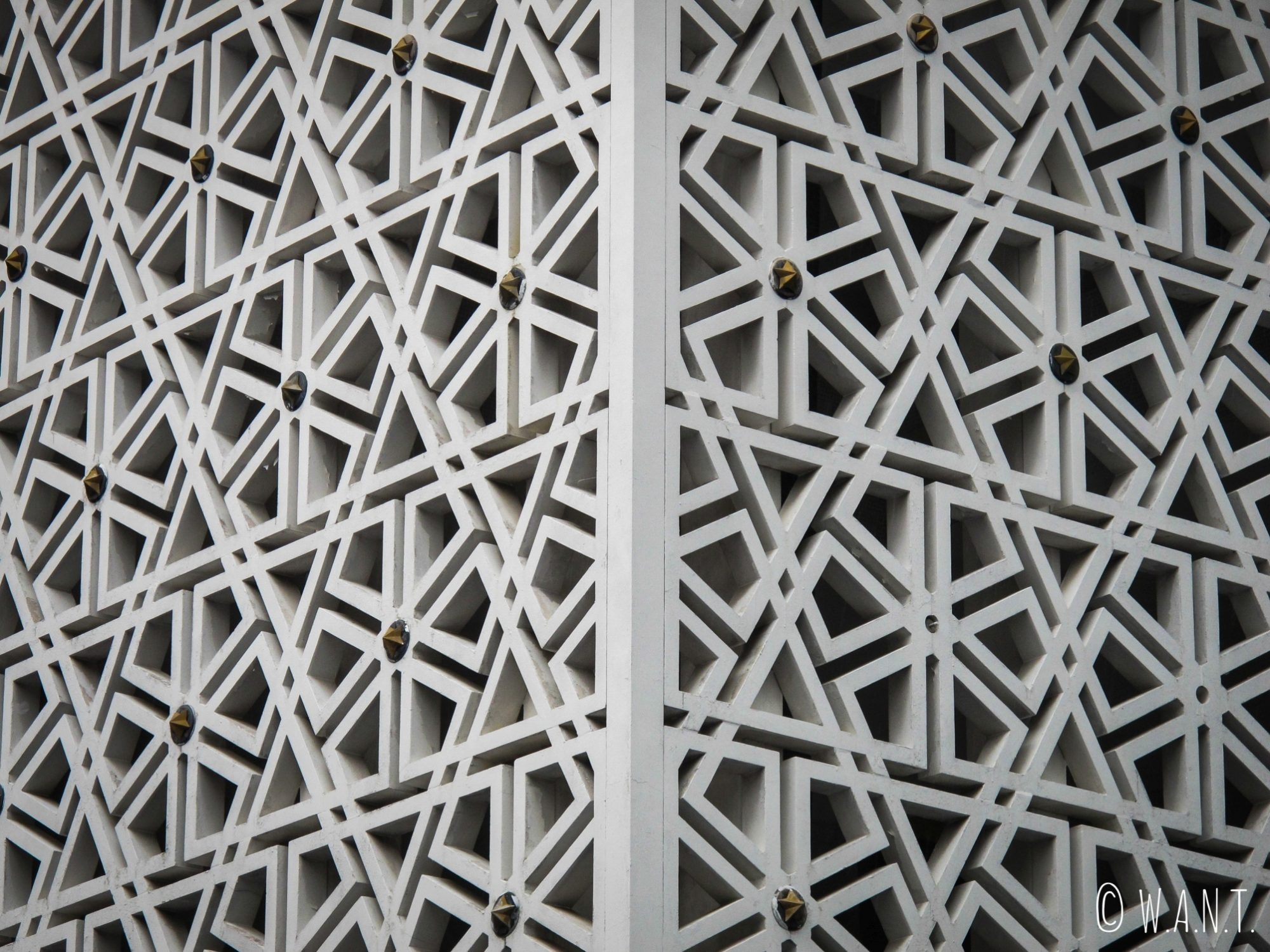 Façade sculptée de la National Mosque