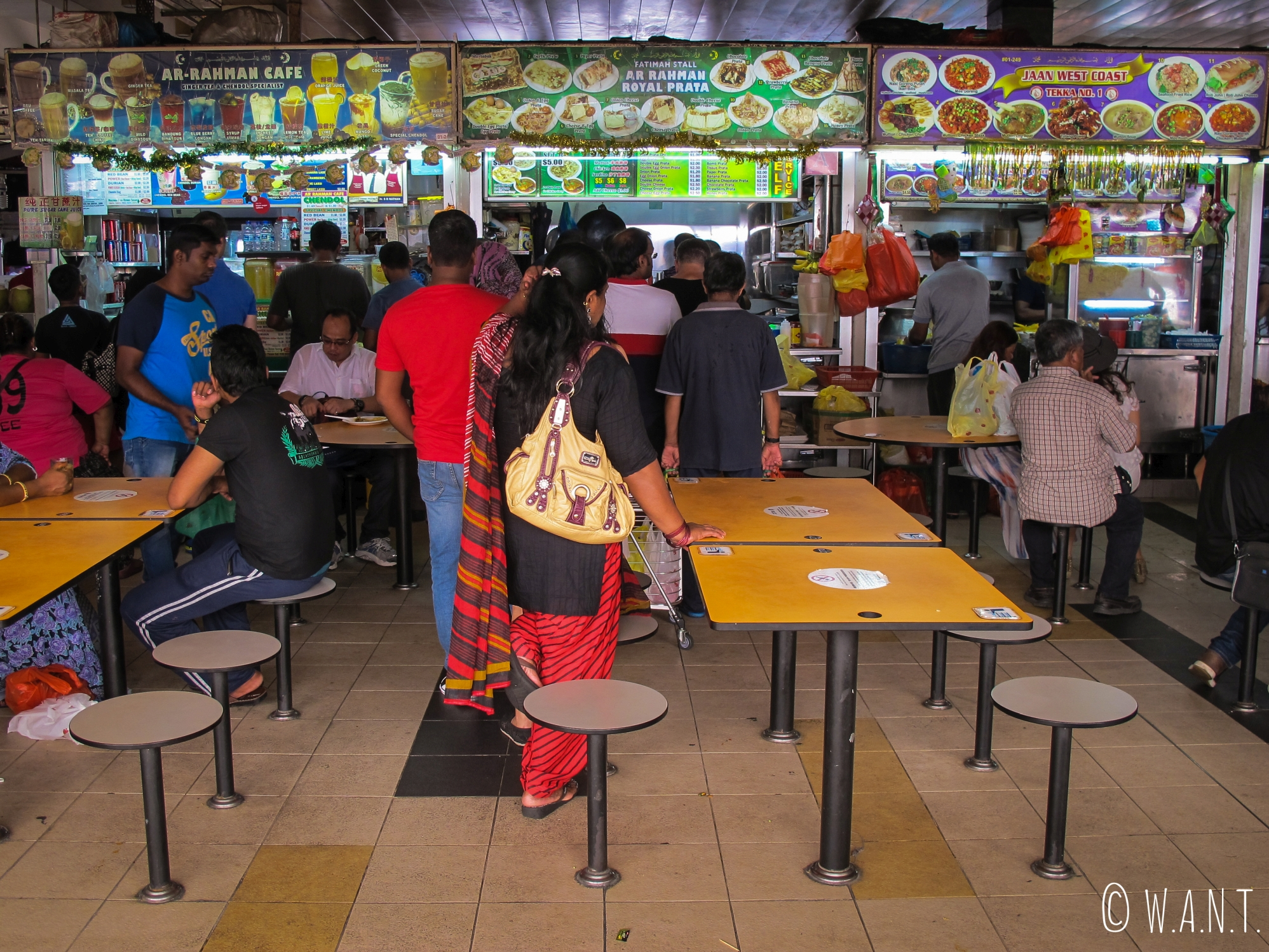 Food court dans le quartier de Little India à Singapour
