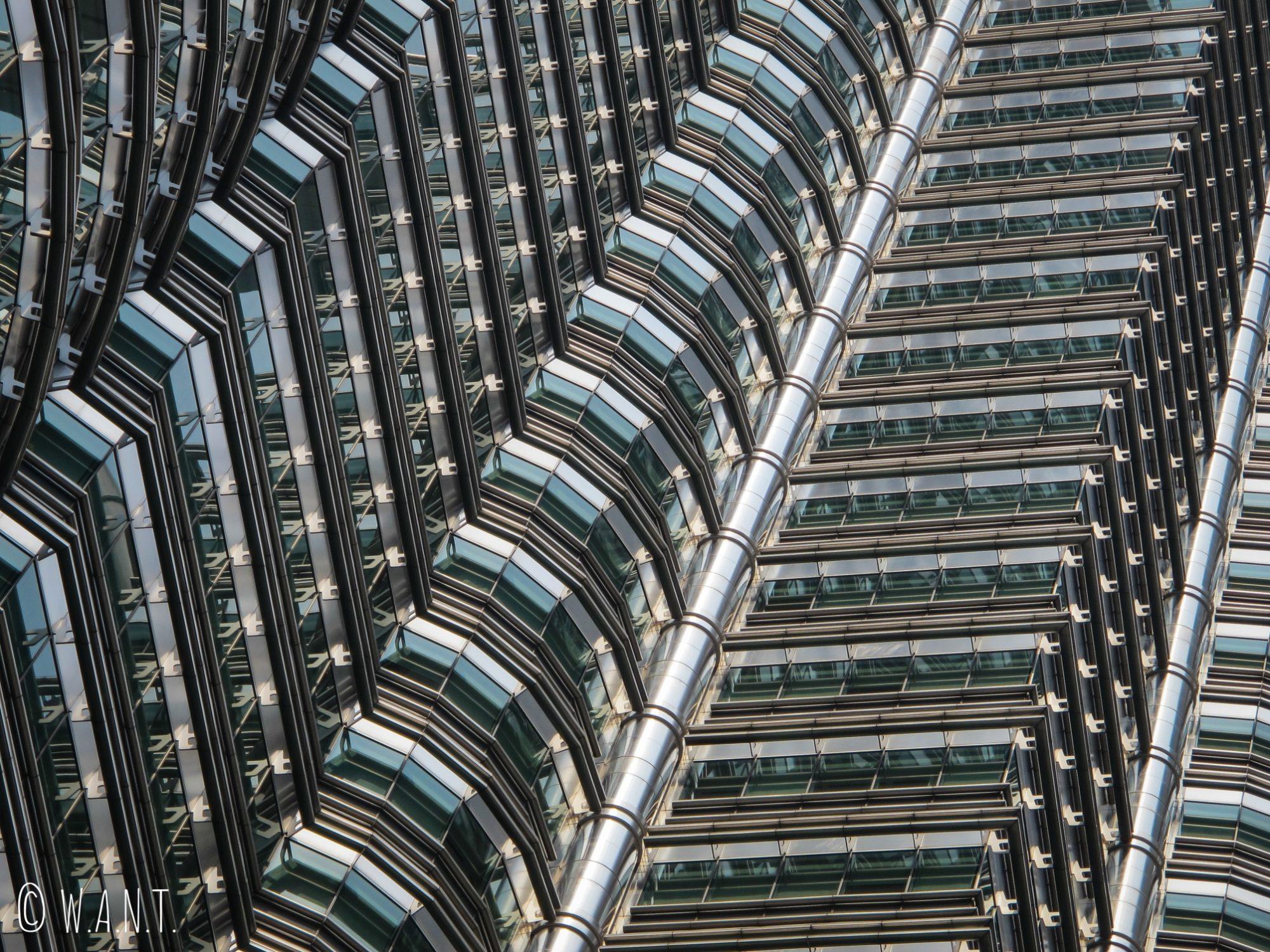 Gors plan sur la sublime architecture des tours jumelles Petronas