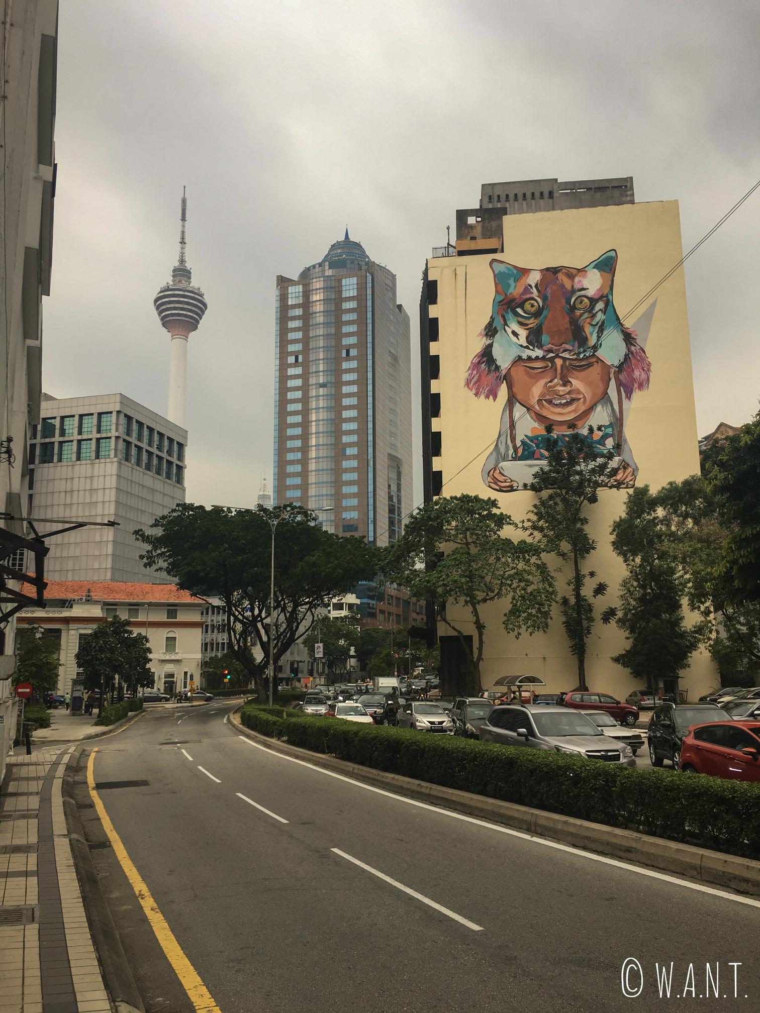 L'art de rue a aussi sa place dans les rues de Kuala Lumpur