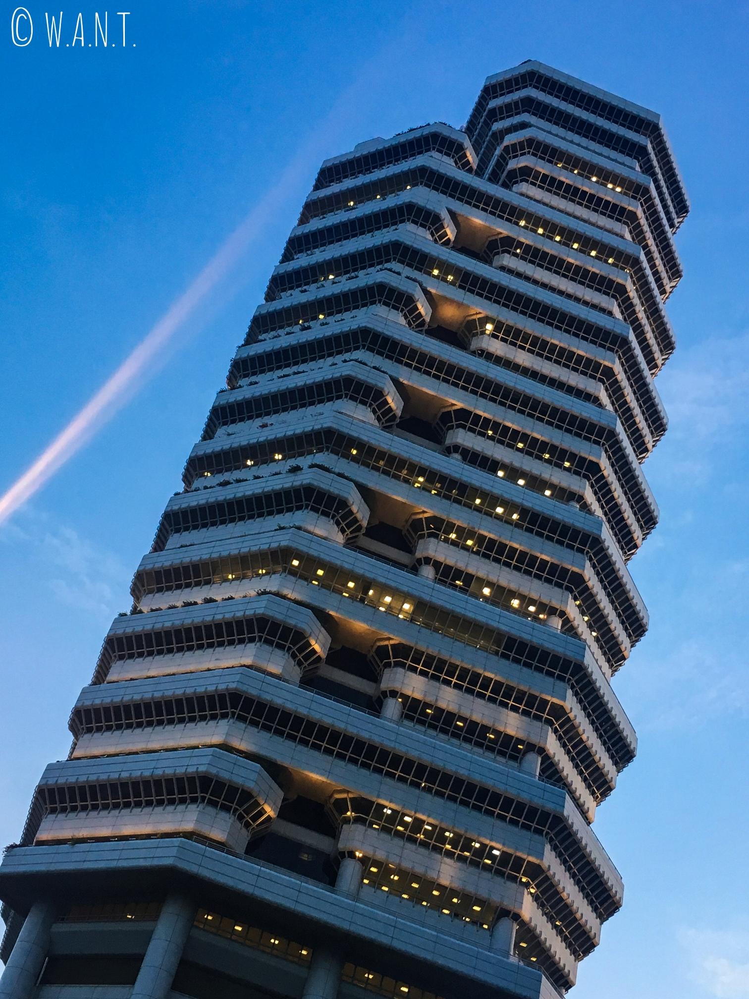 Le design des tours de Singapour s'avère parfois audacieux