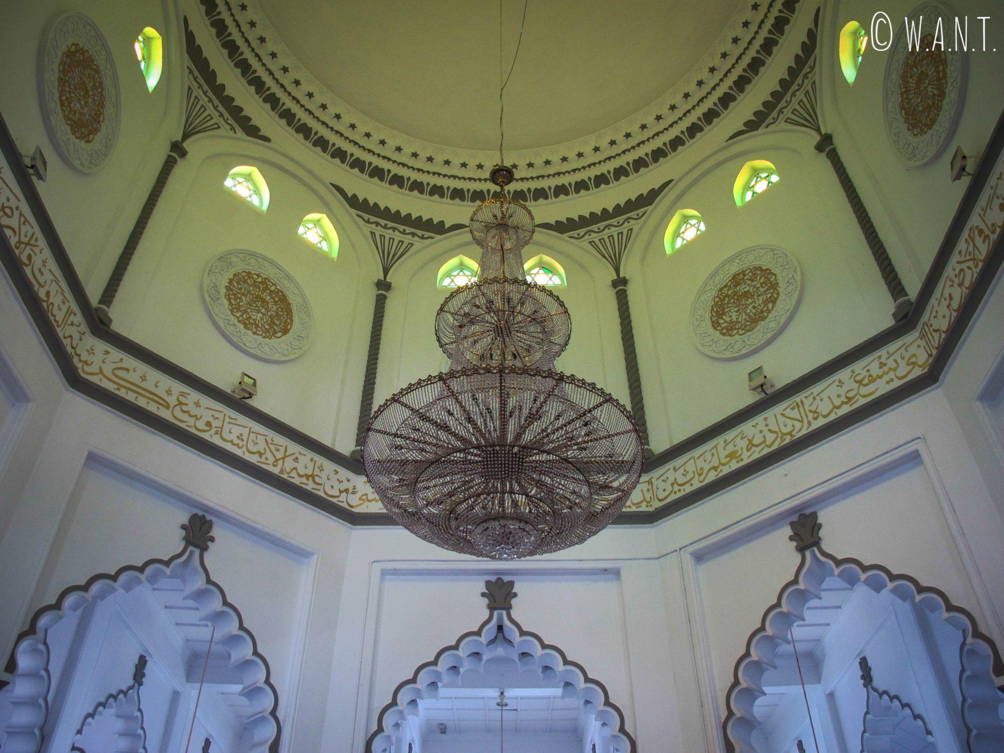 Lustre de la mosquée Kapitan Keling de Georgetown à Penang