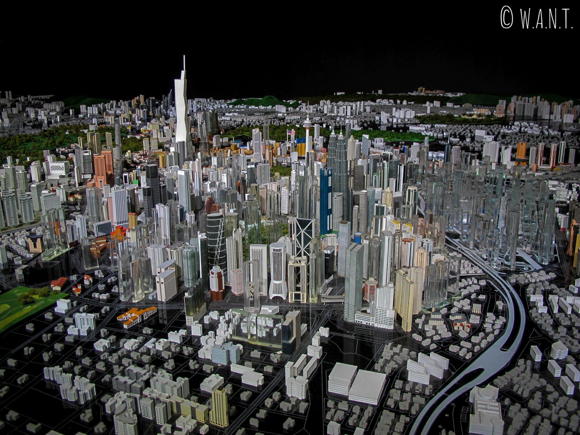 Maquette de la ville de Kuala Lumpur présentée au KL City Gallery