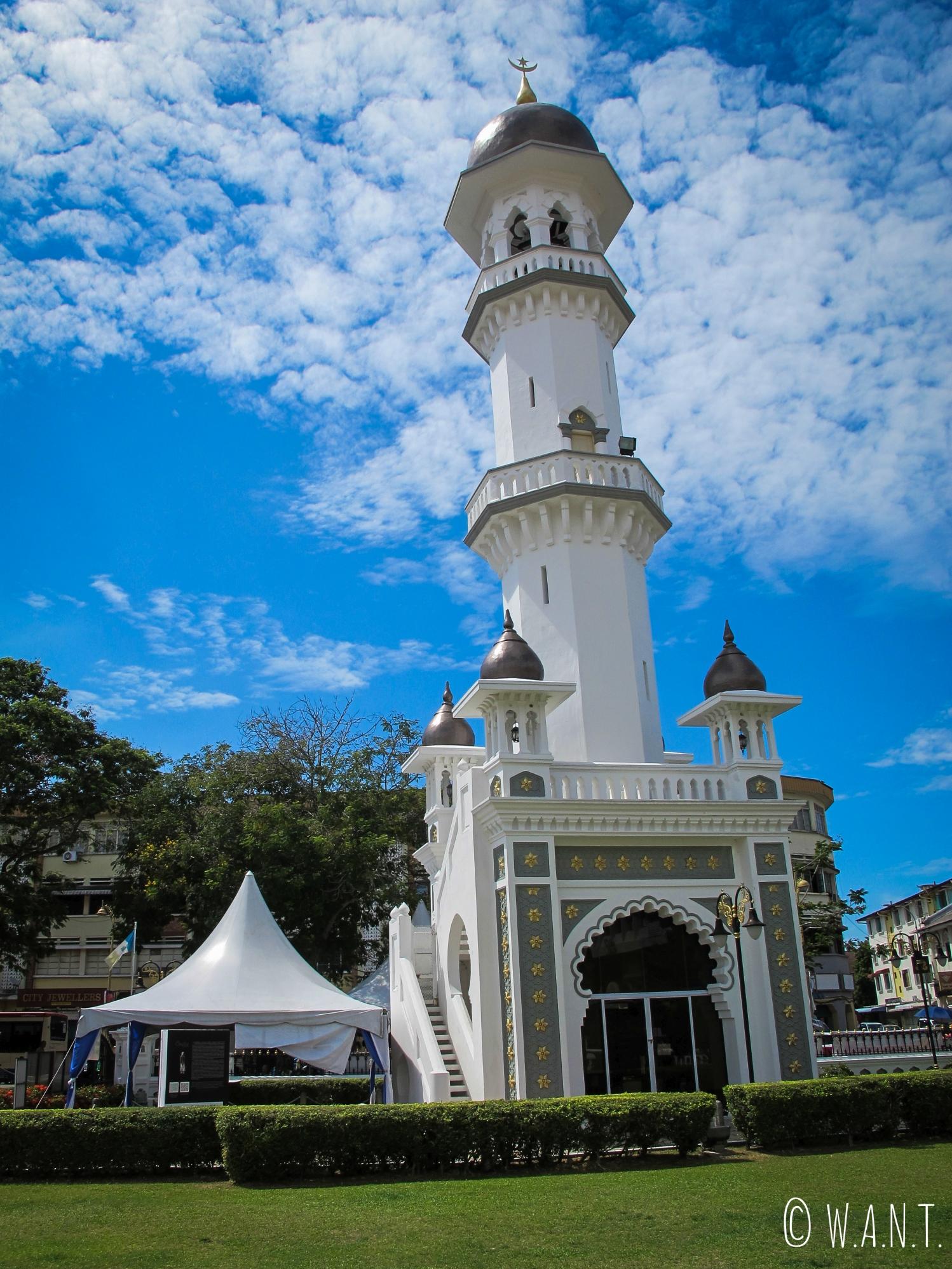 Minaret de la mosquée Kapitan Keling de Georgetown à Penang