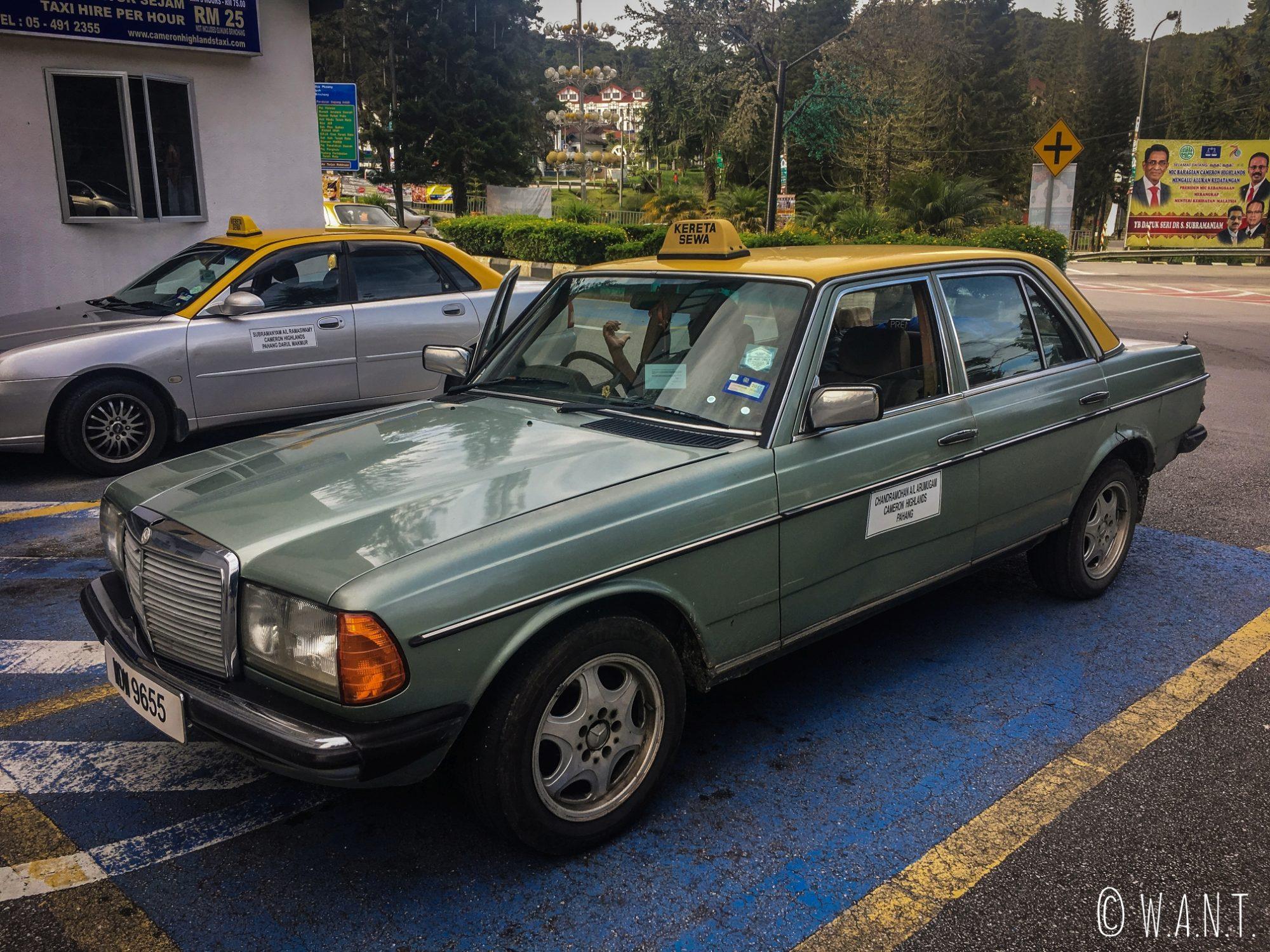 Notre superbe taxi nous conduisant de Tanah Rata à Brinchang