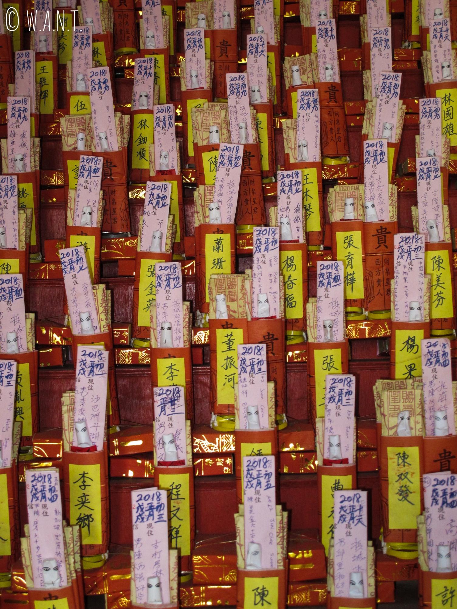 Offrandes dans le temple chinois Kuan Yin Teng de Georgetown à Penang