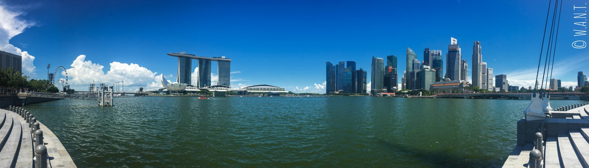 Panorama de Marina Bay à Singapour