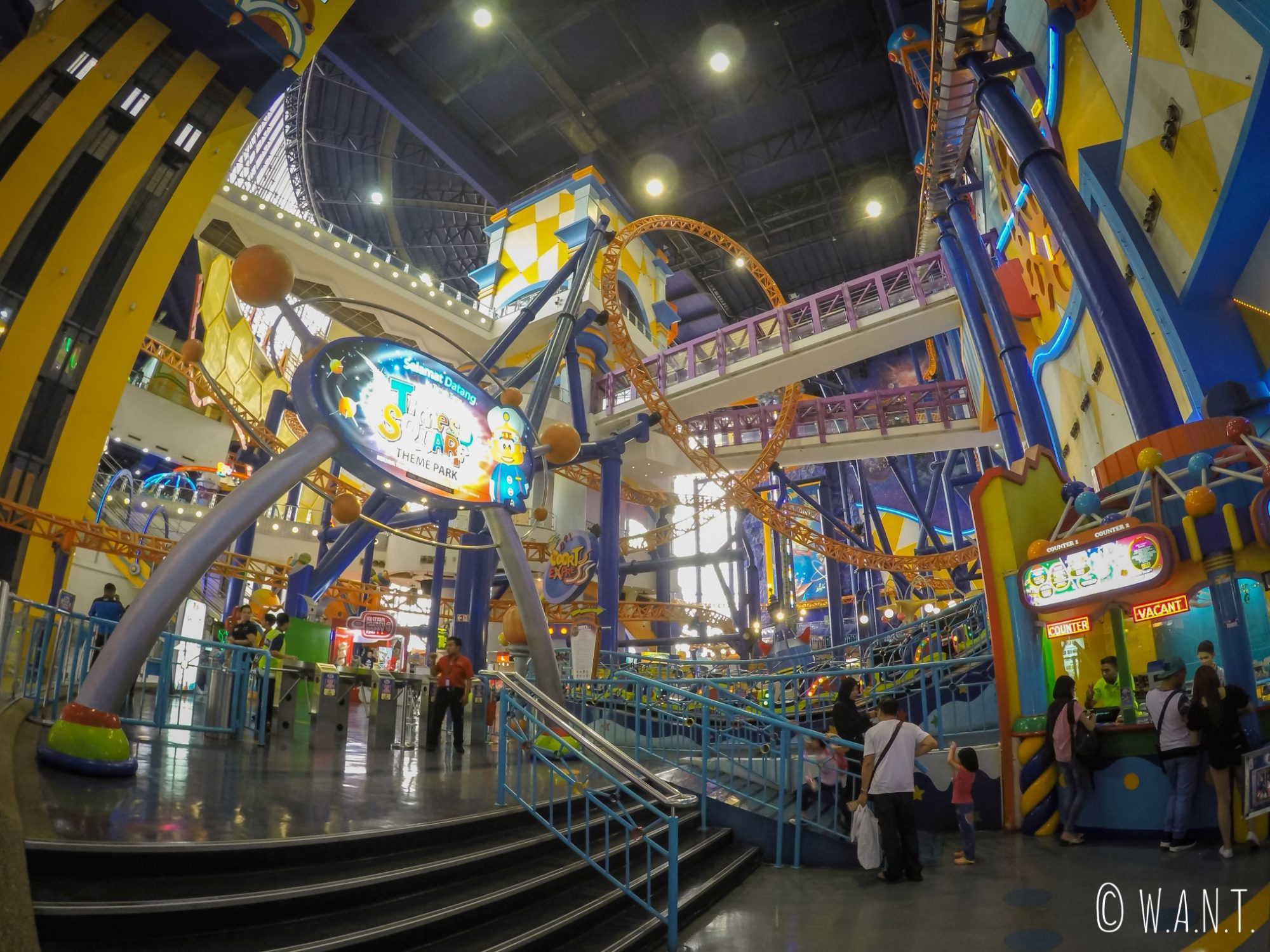 Parc d'attraction dans le centre commercial Berjaya Times Square