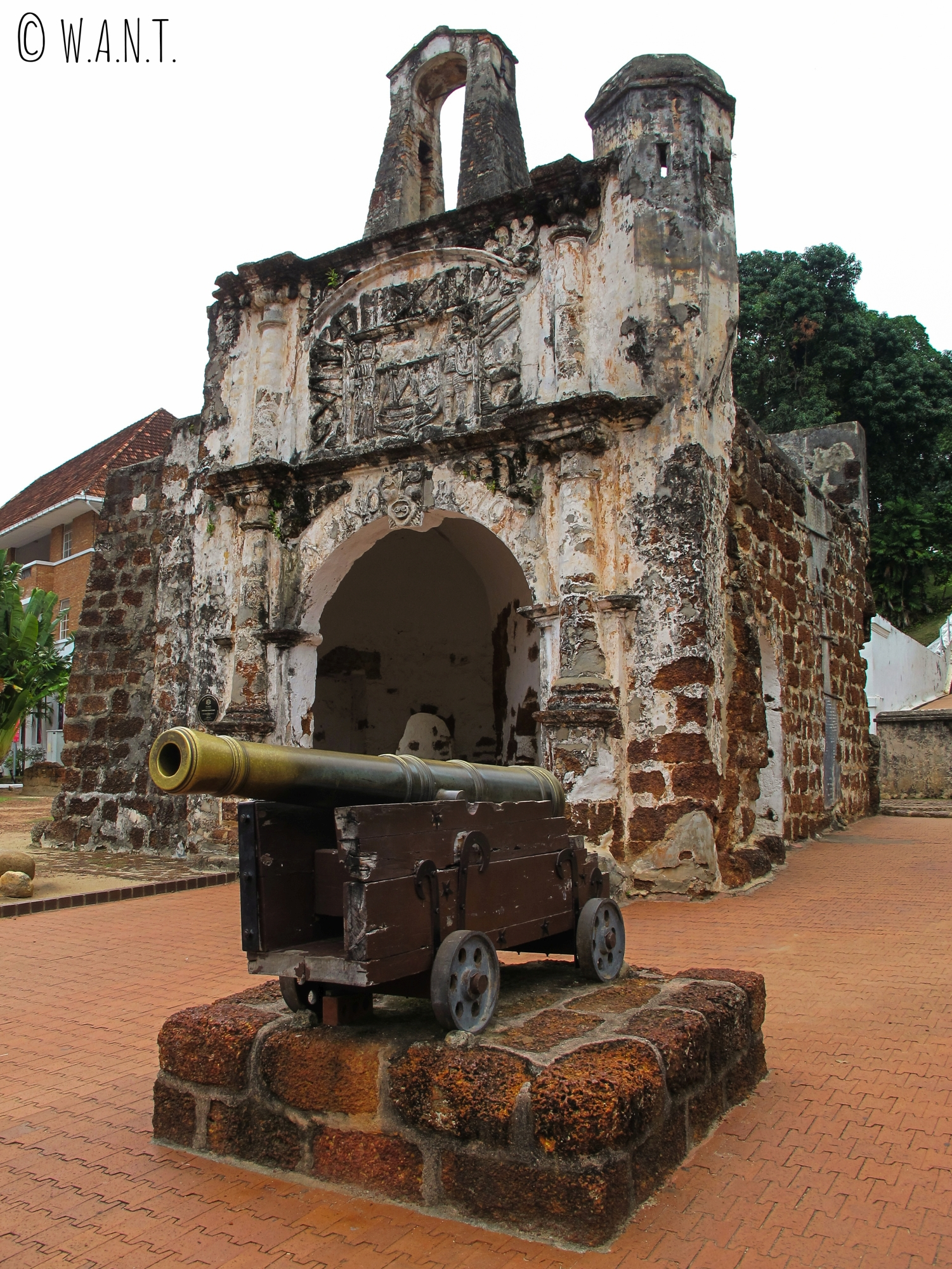 Porta de Santiago, dernier vestige de la forteresse A'Famosa de Malacca
