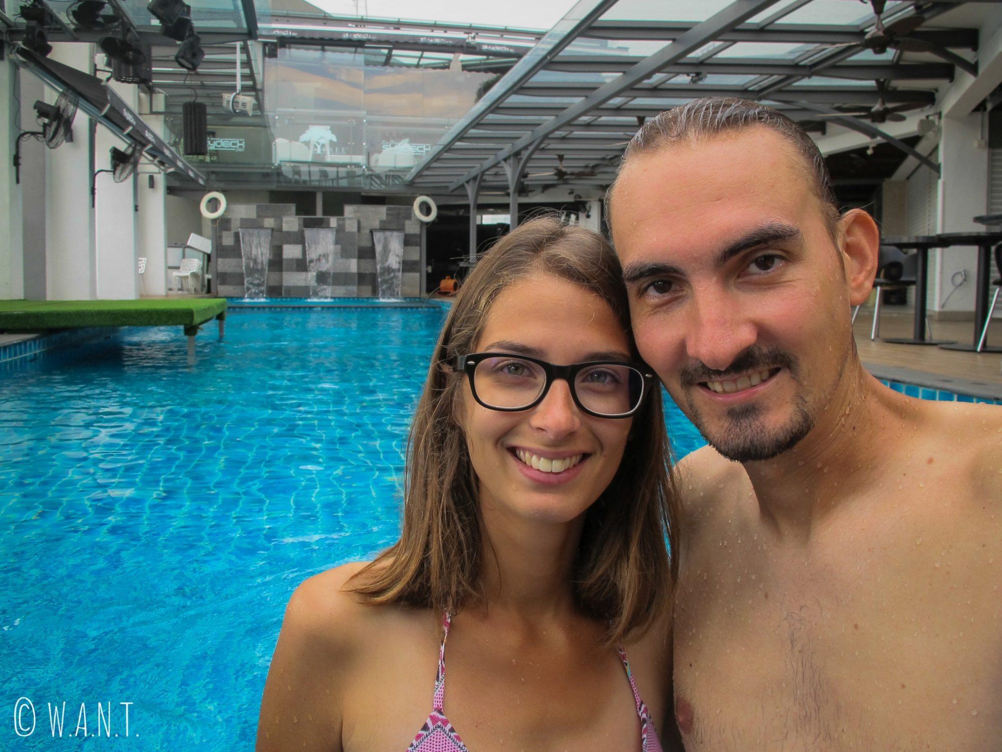 Première piscine depuis le début de notre voyage, nous l'avons attendue !