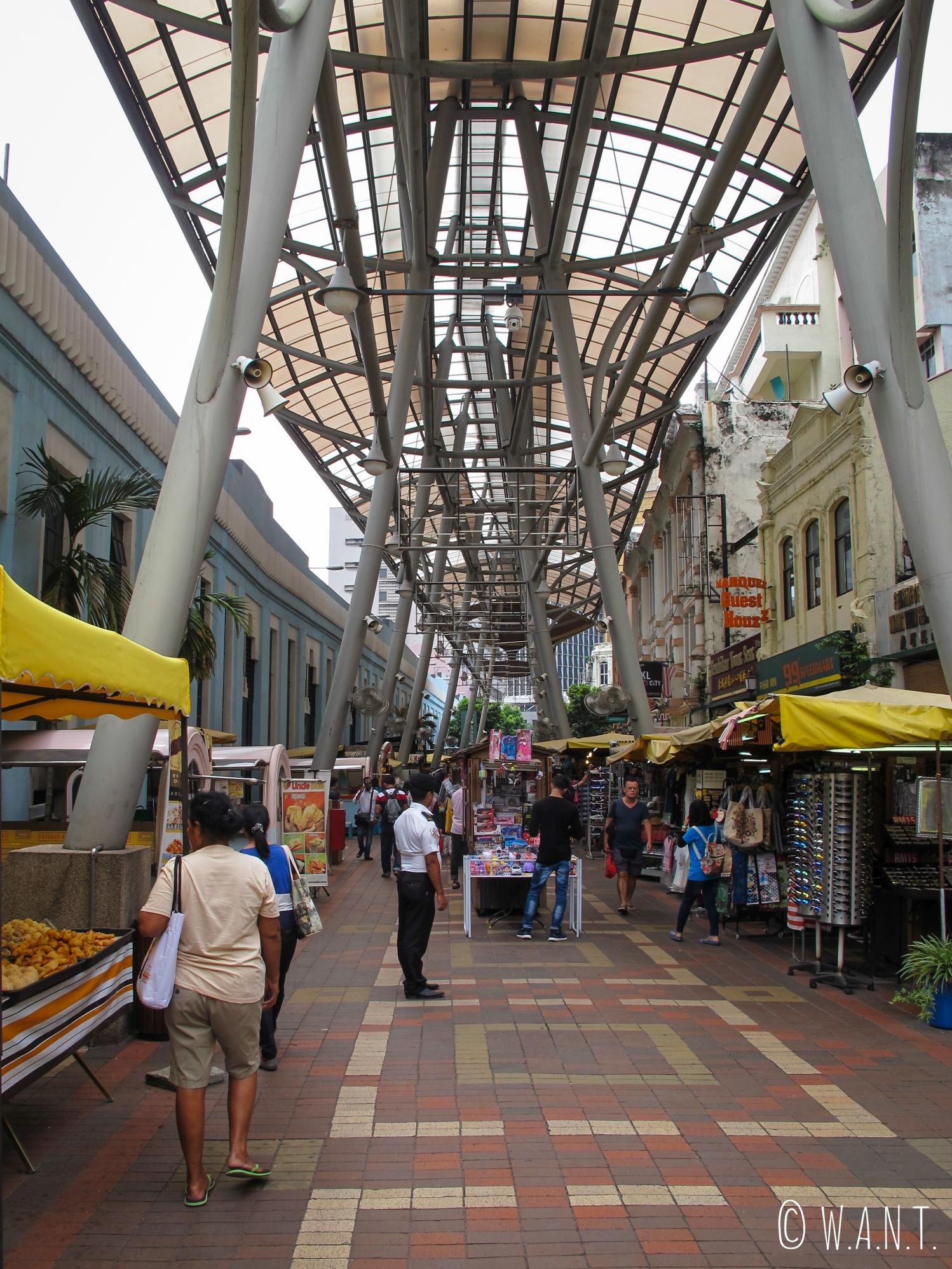 Rue Jalan Hang Kasturi à côté du Central Market dans le quartier de Chinatown