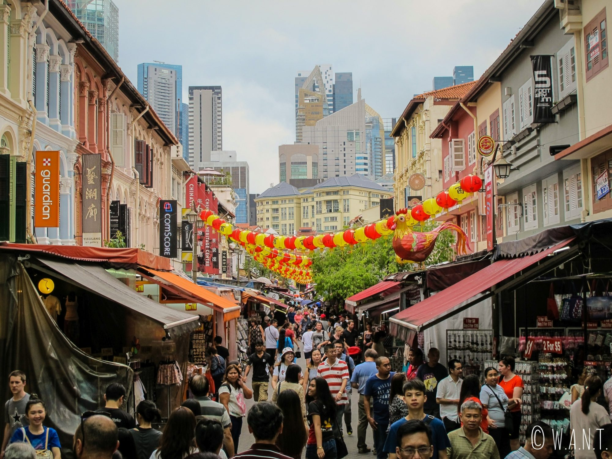 Rue du quartier chinois de Singapour