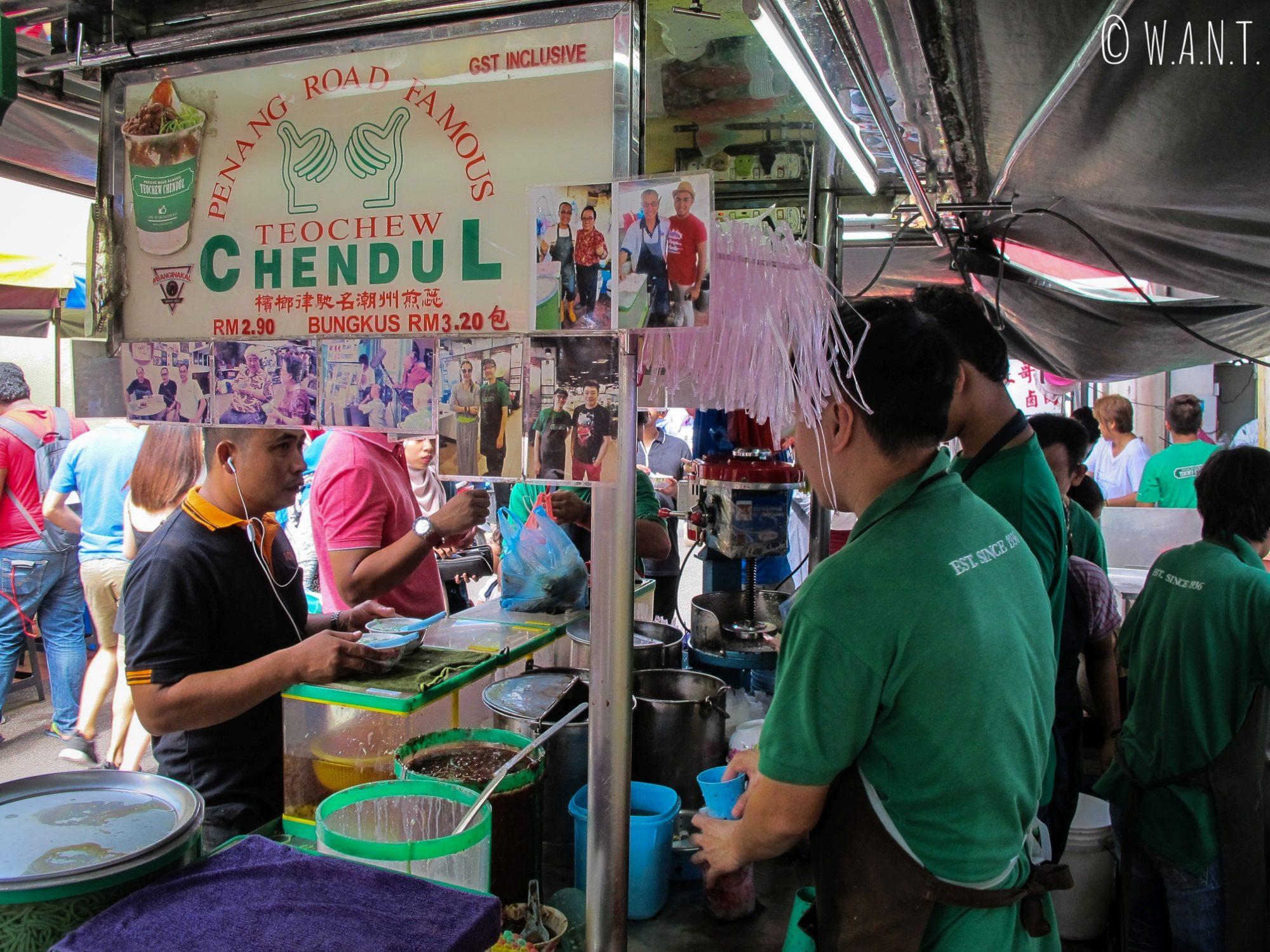 Stand le plus fameux de Georgetown à Penang pour déguster un cendol