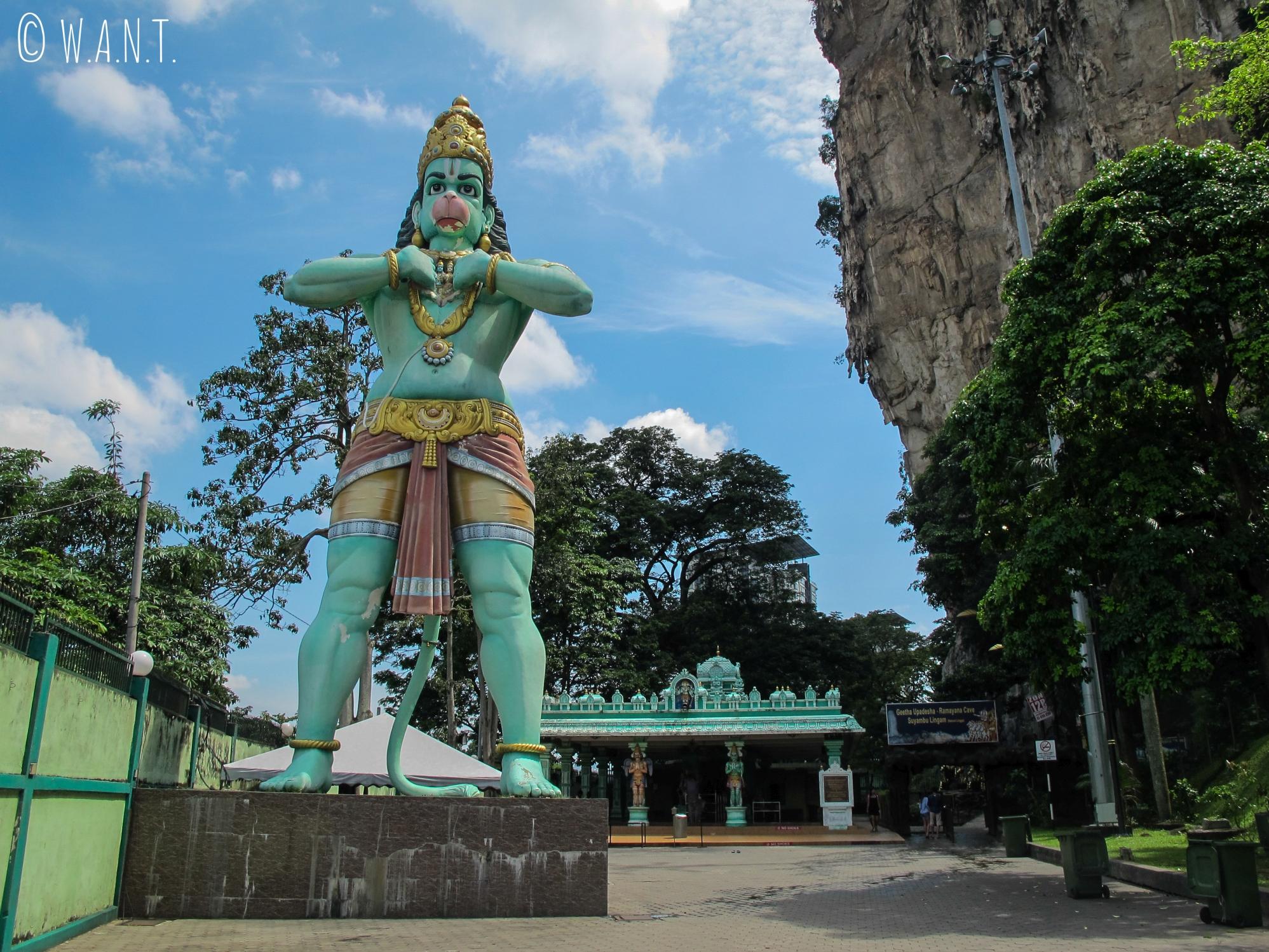 Statue du dieu singe Hanuman aux Batu Caves