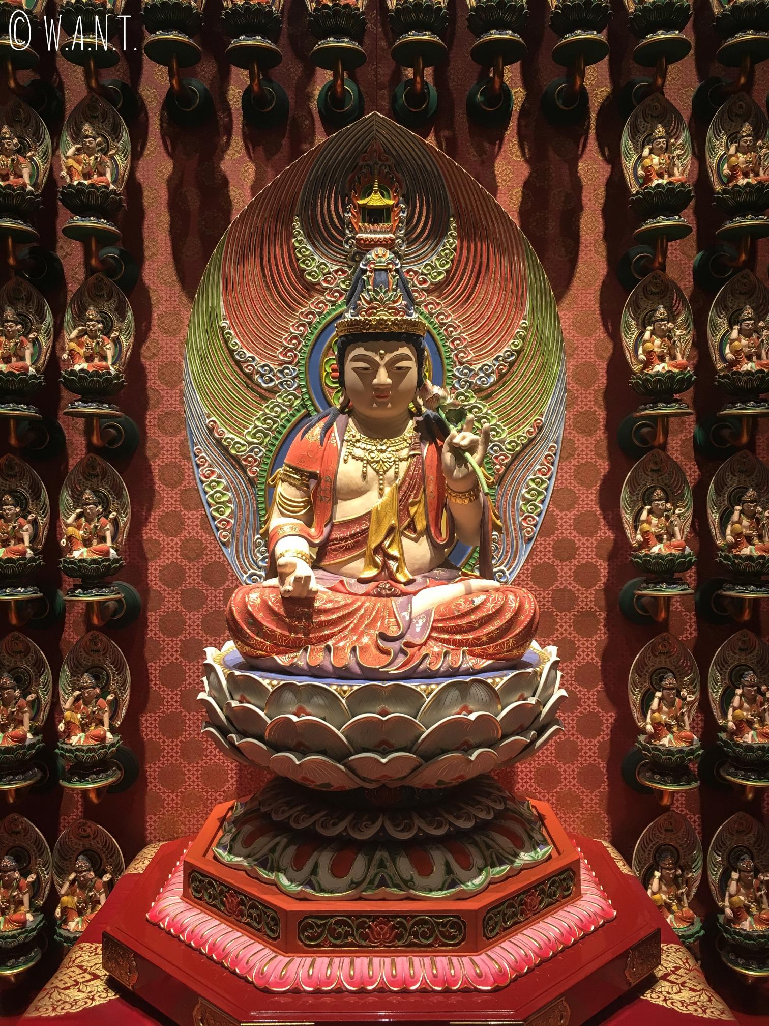 Statue du gardien du signe chinois coq au temple de la relique de la dent de Bouddha